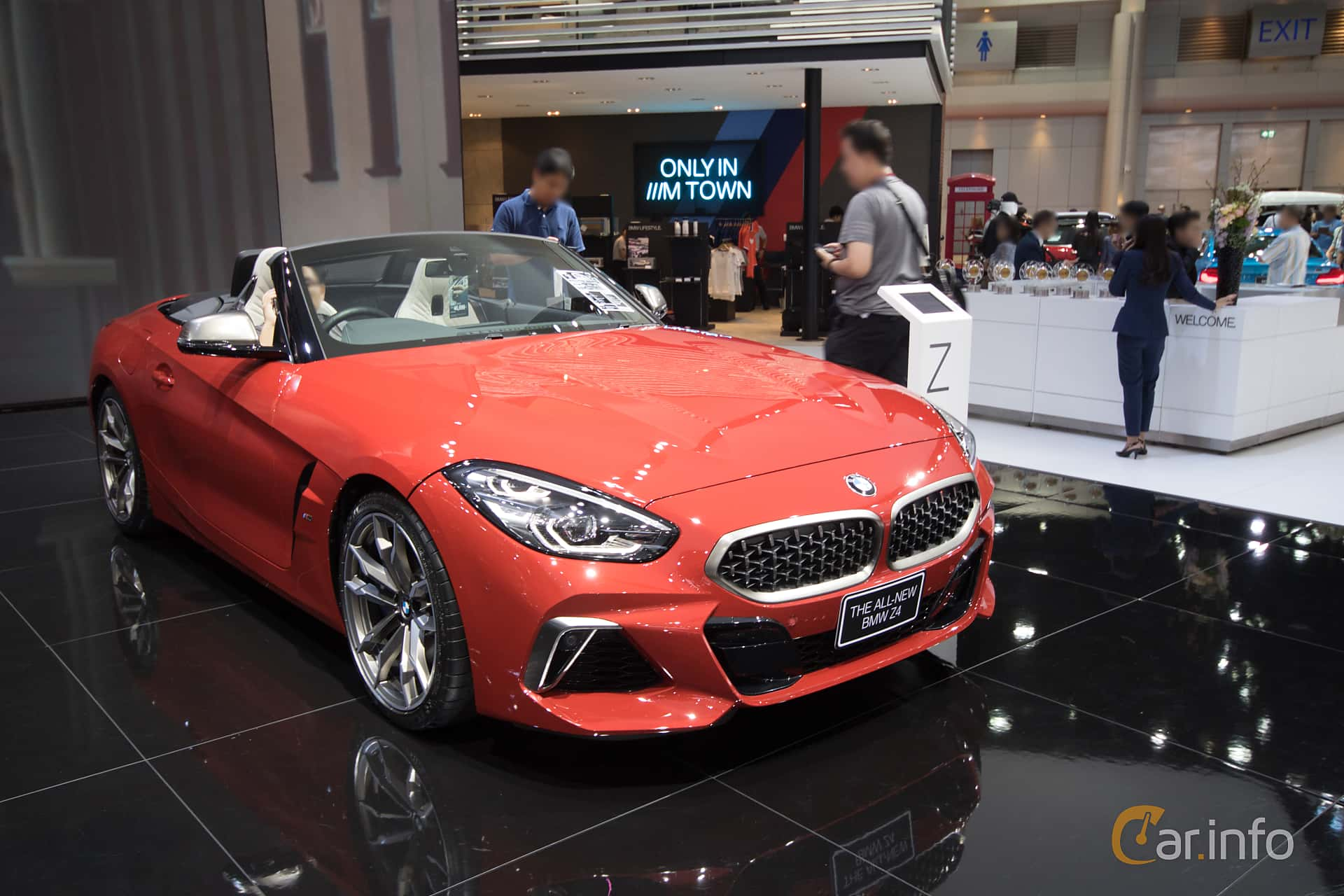 Front/Side  of BMW Z4 M40i  Steptronic, 340ps, 2019 at Bangkok Motor Show 2019