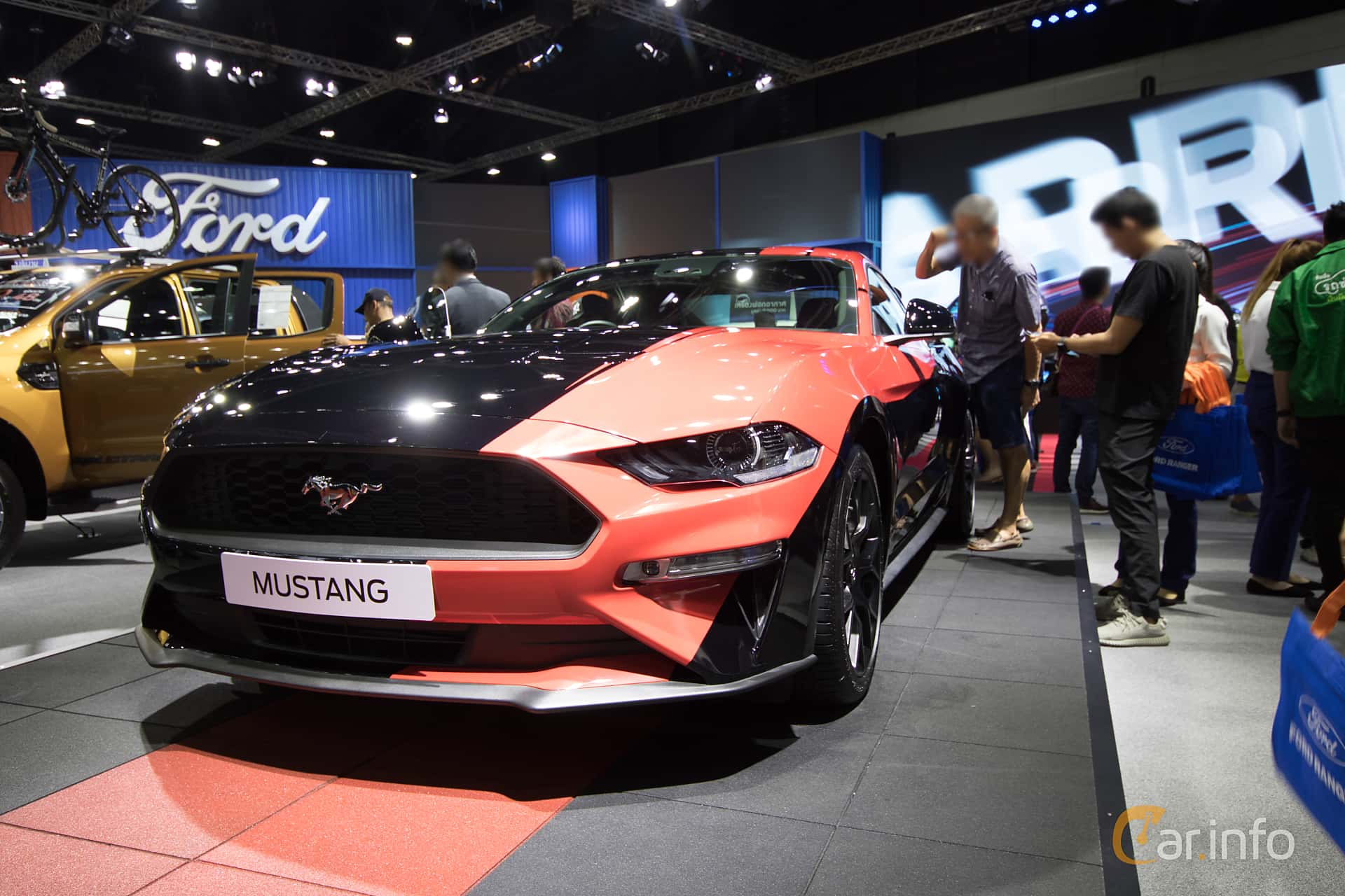 Front/Side  of Ford Mustang 2.3 GTDI EcoBoost 314ps, 2019 at Bangkok Motor Show 2019