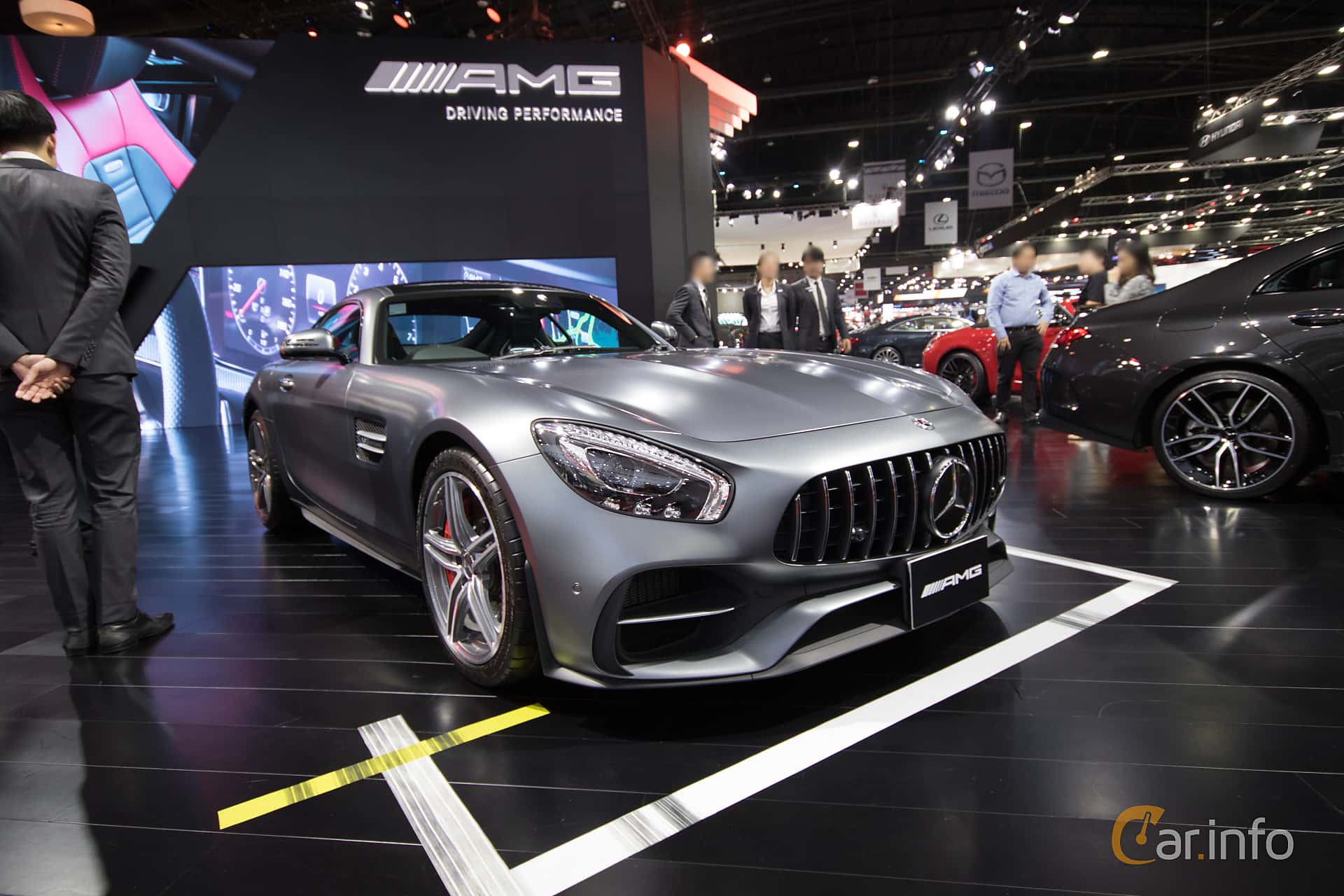 Front/Side  of Mercedes-Benz AMG GT  AMG Speedshift DCT, 476ps, 2019 at Bangkok Motor Show 2019