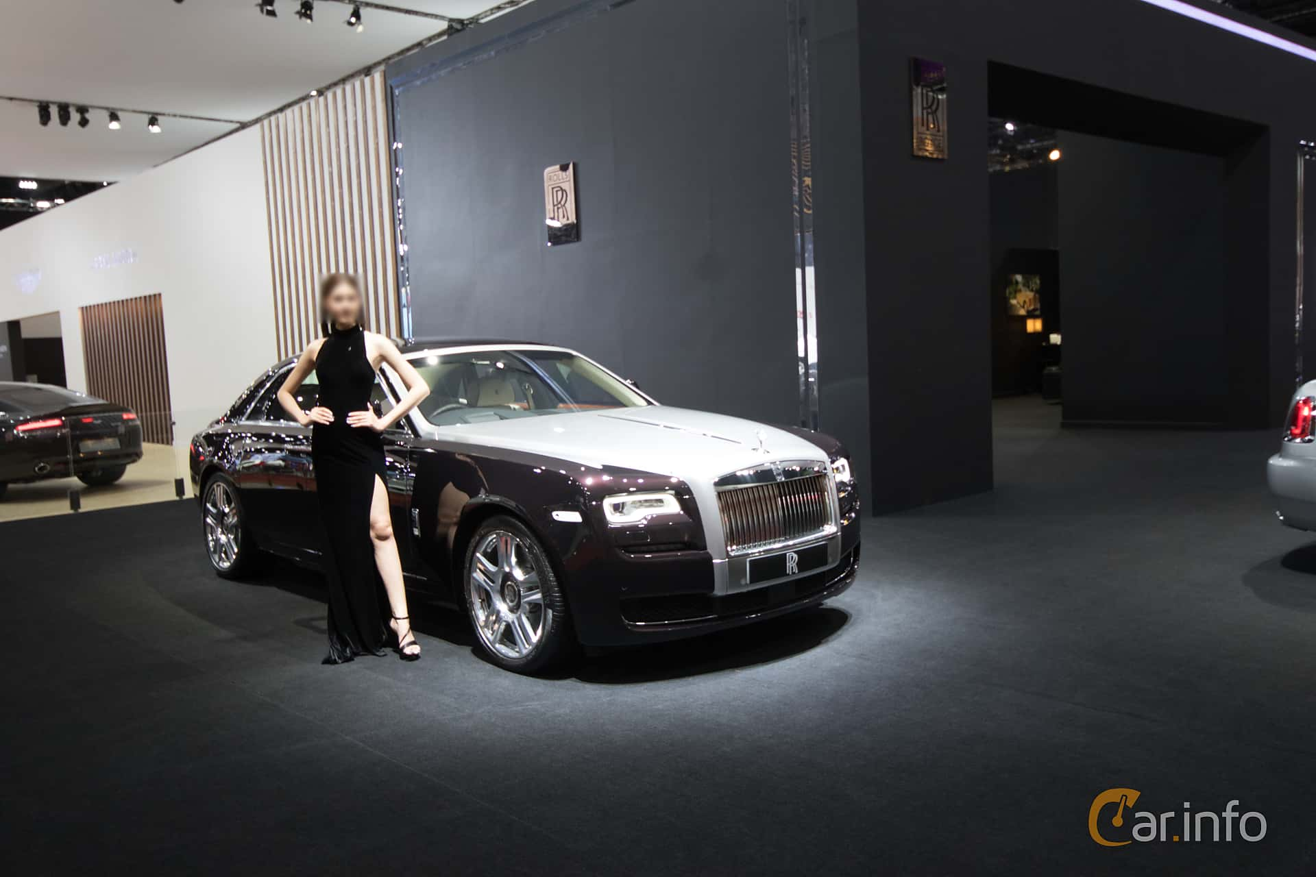 Front/Side  of Rolls-Royce Ghost 6.6 V12 Automatic, 570ps, 2019 at Bangkok Motor Show 2019