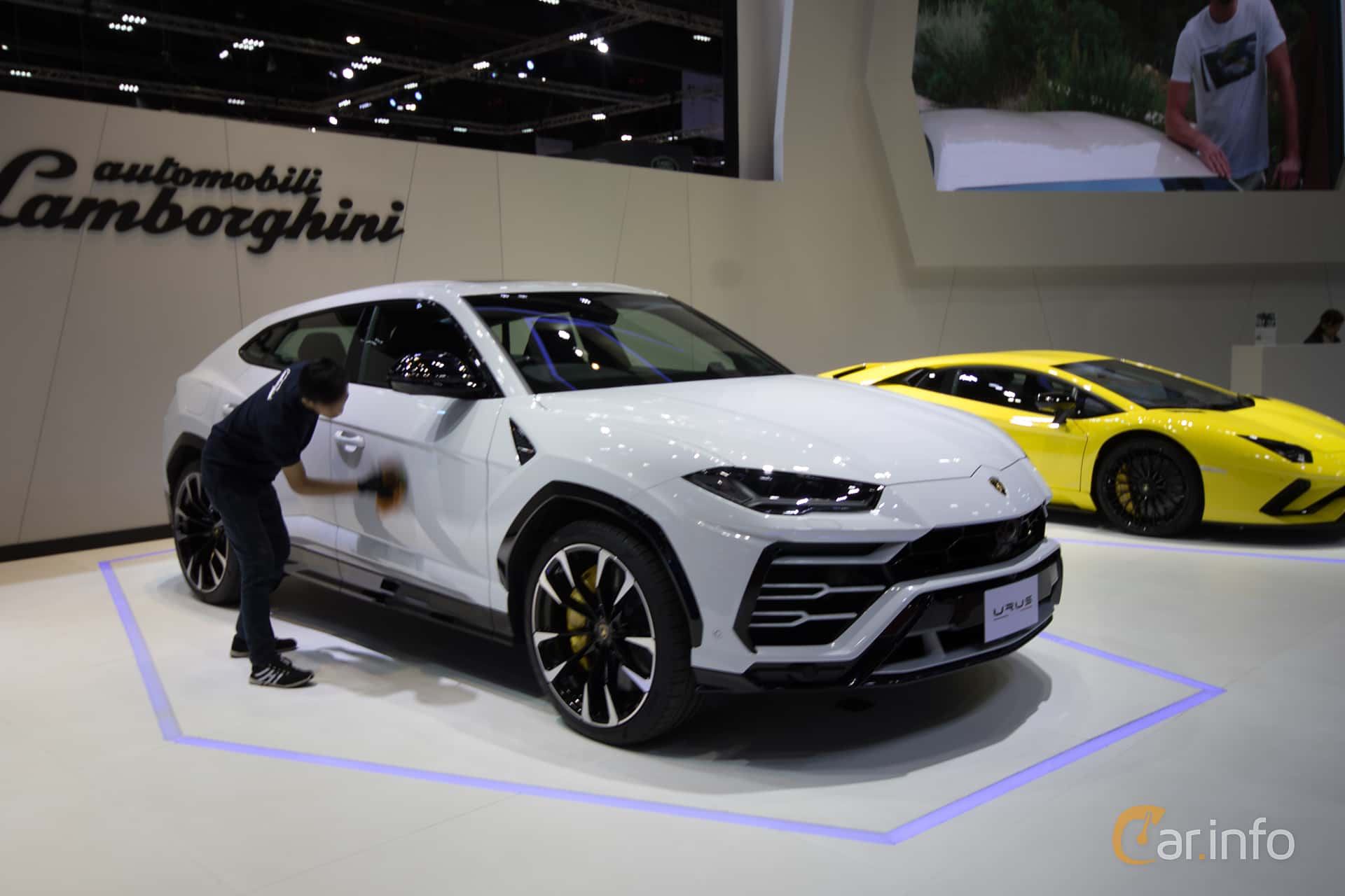 Front/Side  of Lamborghini Urus 4.0 V8 AWD Automatic, 650ps, 2019 at Bangkok Motor Show 2019