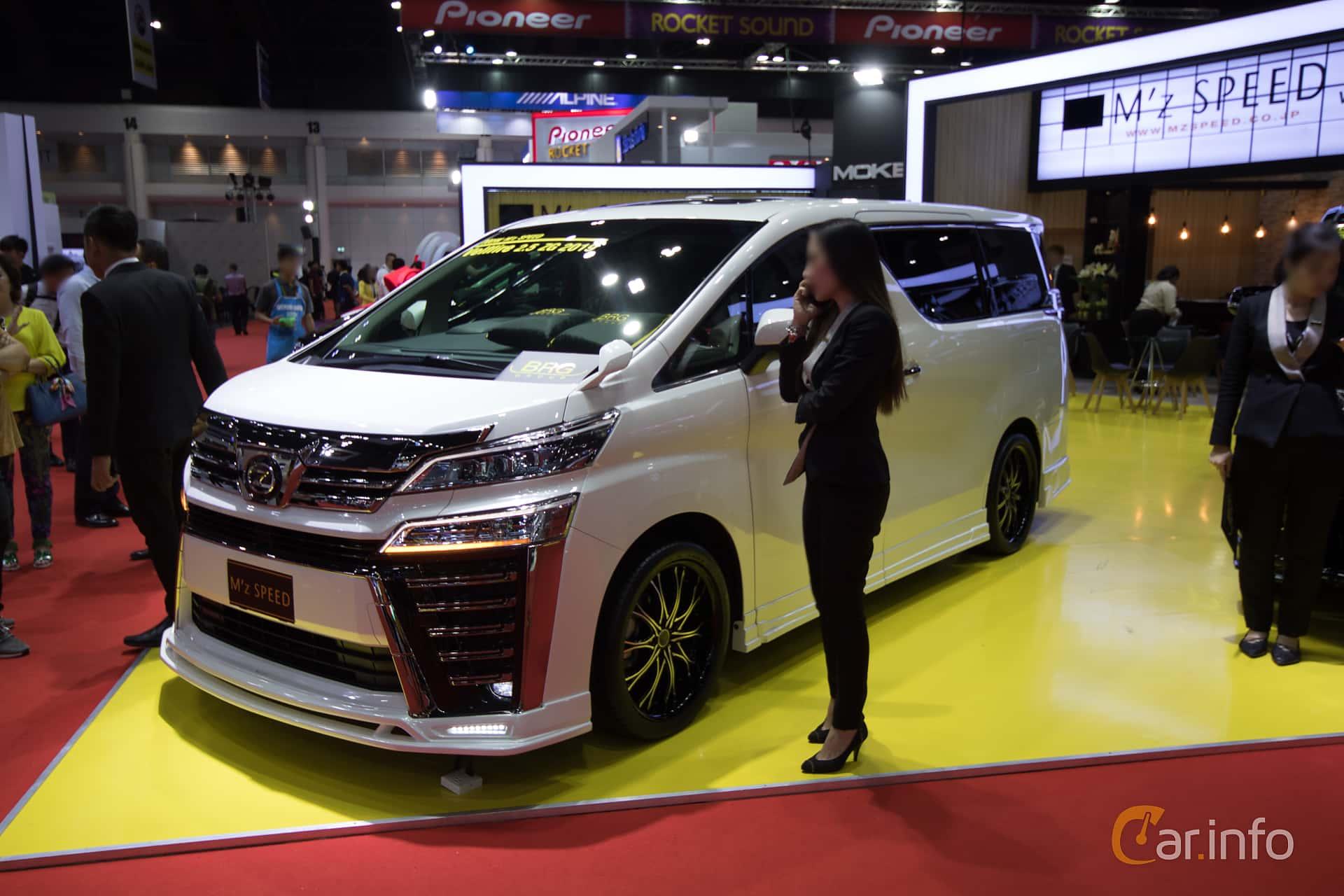 Front/Side  of Toyota Vellfire 3.5 V6 Automatic, 301ps, 2018 at Bangkok Motor Show 2019
