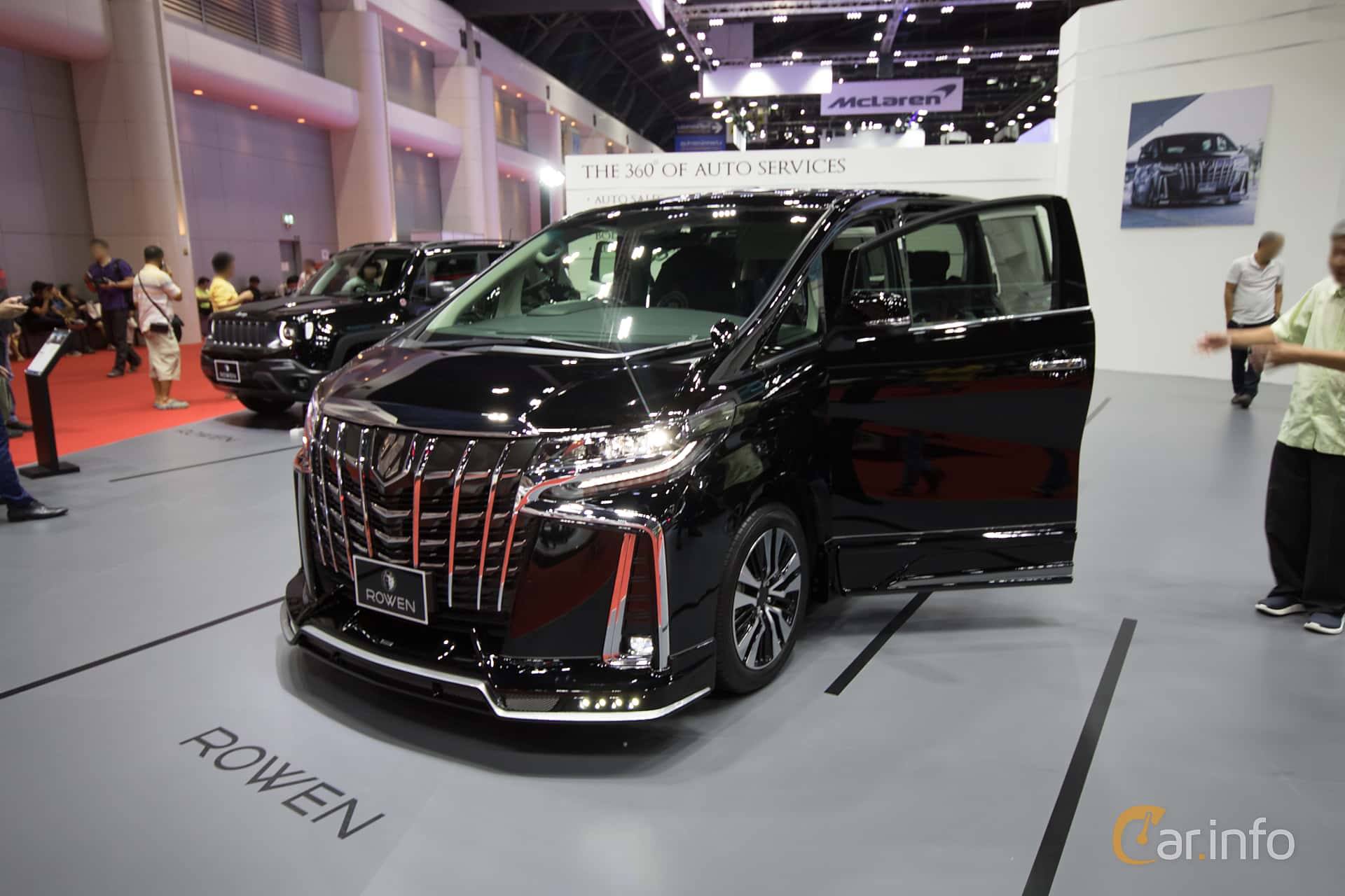 Front/Side  of Toyota Alphard 2.5 Super CVT‐i, 182ps, 2019 at Bangkok Motor Show 2019