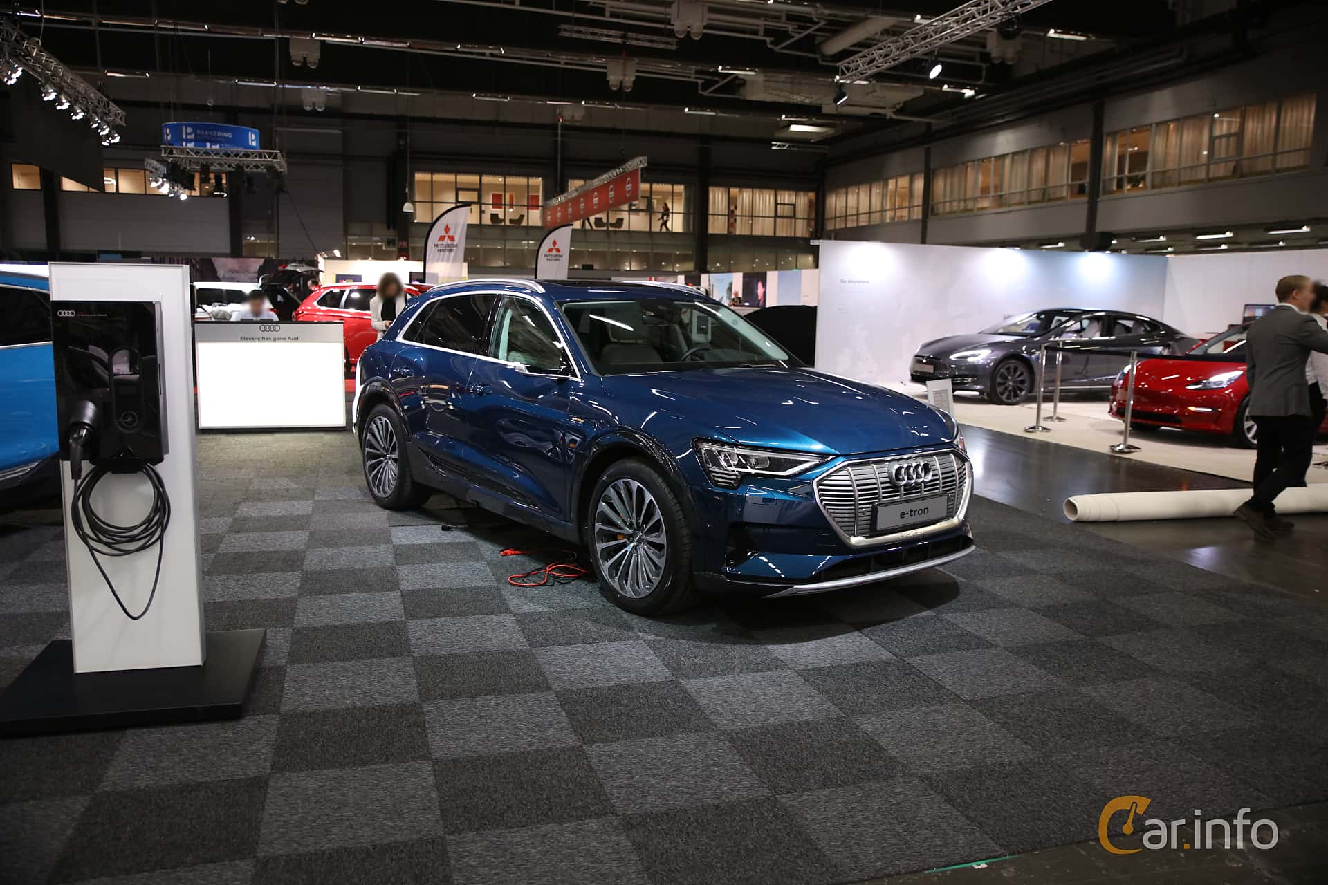 Audi e-tron 55 quattro  Single Speed, 408hp, 2019 at eCar Expo Göteborg 2018