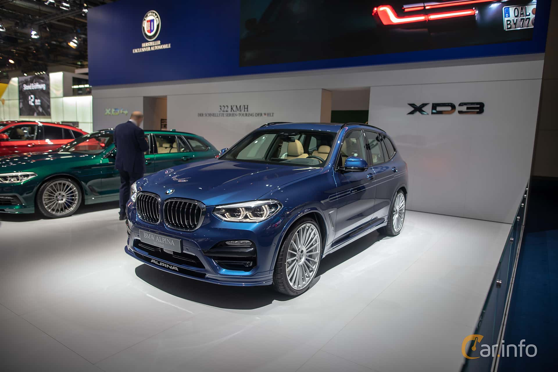 Front/Side  of ALPINA XD3 ALLRAD  Switch-Tronic, 388ps, 2020 at IAA 2019