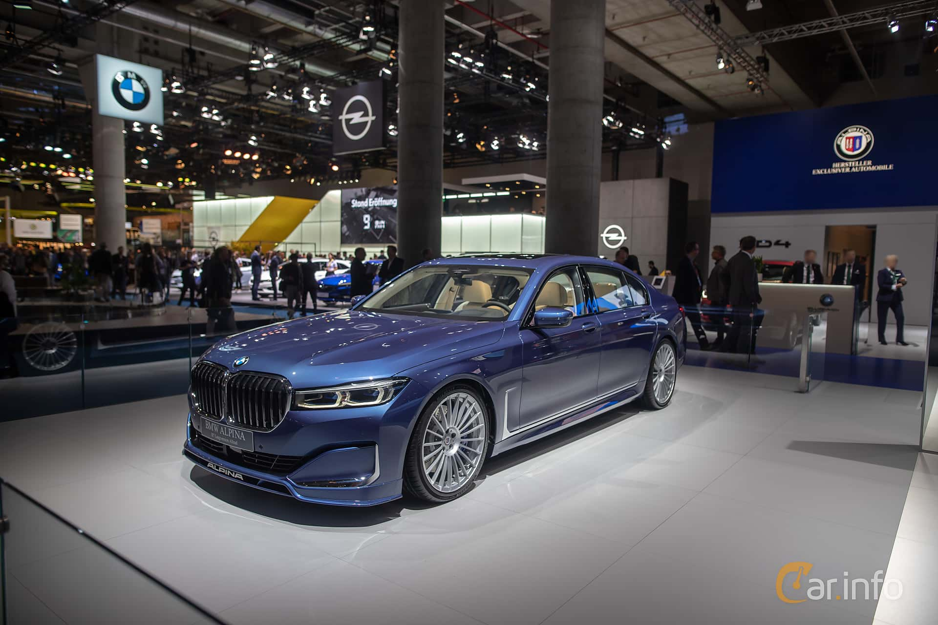 Front/Side  of ALPINA B7 LWB ALLRAD  Switch-Tronic, 608ps, 2020 at IAA 2019