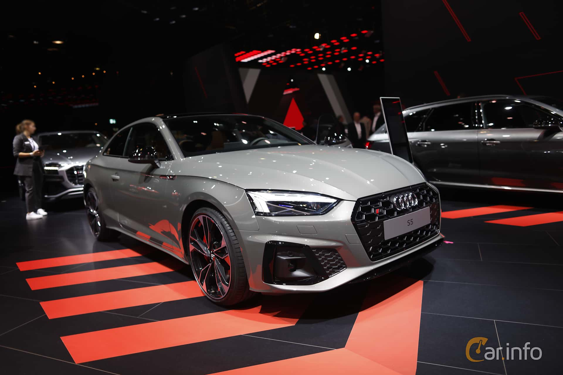 Front/Side  of Audi S5 TDI Coupé 3.0 TDI quattro TipTronic, 347ps, 2020 at IAA 2019