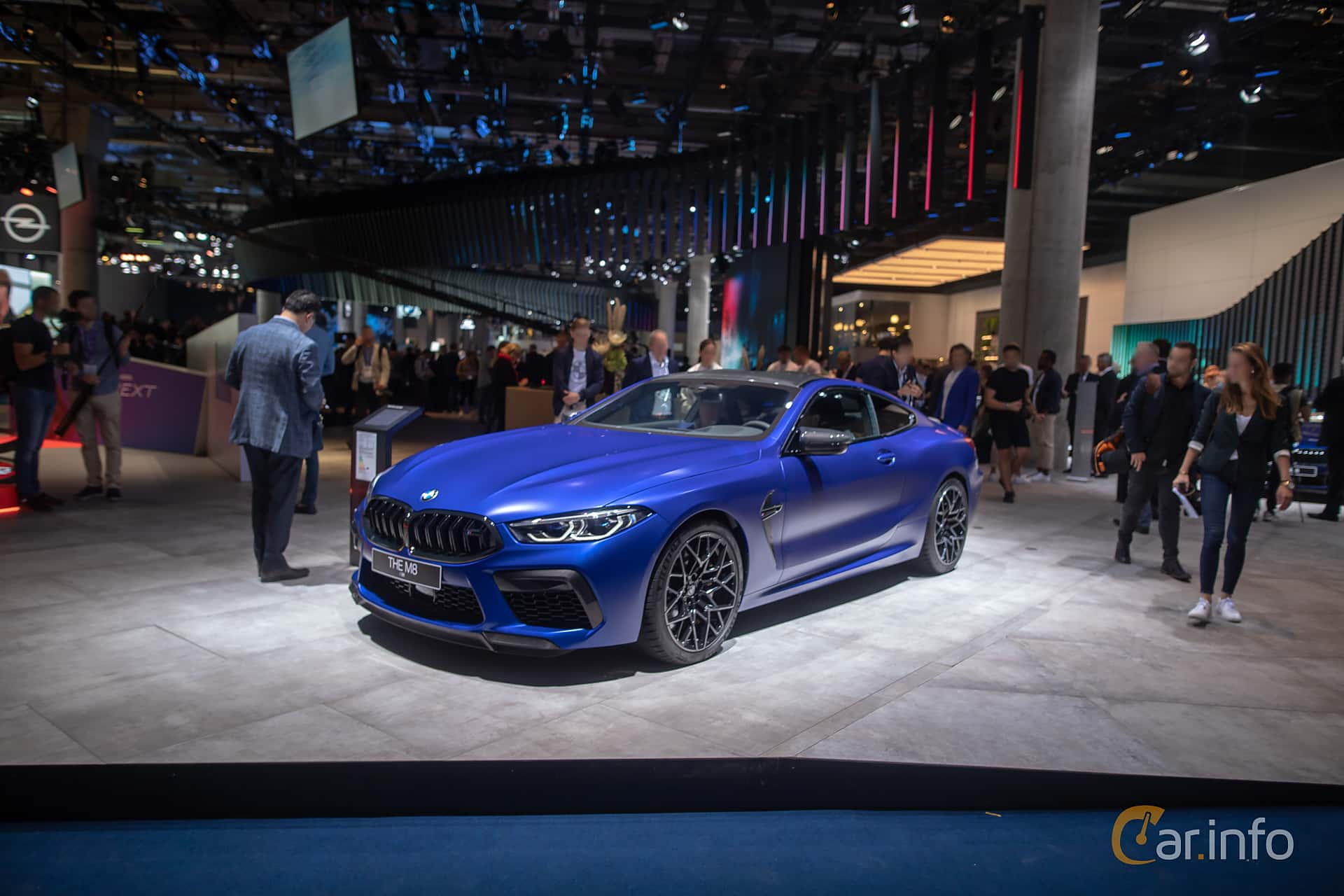 Front/Side  of BMW M8 Competition Coupe  Steptronic, 625ps, 2020 at IAA 2019