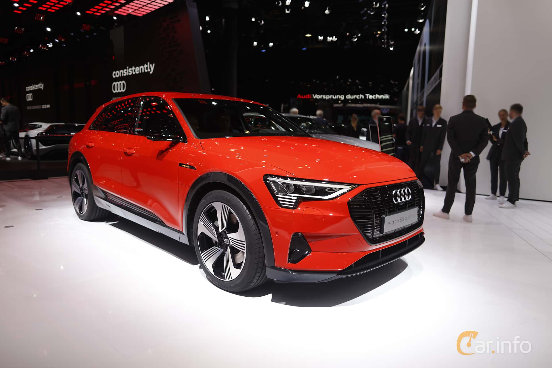 Front/Side  of Audi e-tron 55 quattro  Single Speed, 408ps, 2020 at IAA 2019