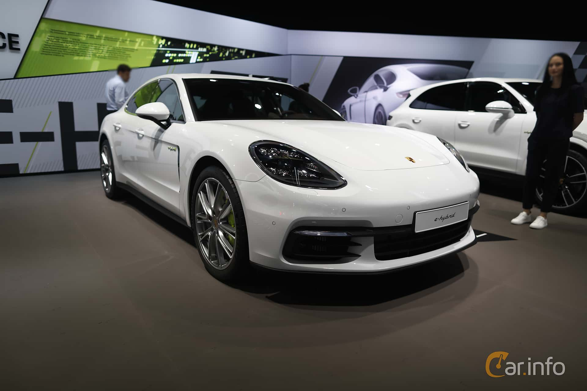 Front/Side  of Porsche Panamera 4 E-Hybrid 2.9 V6 4 PDK, 462ps, 2020 at IAA 2019