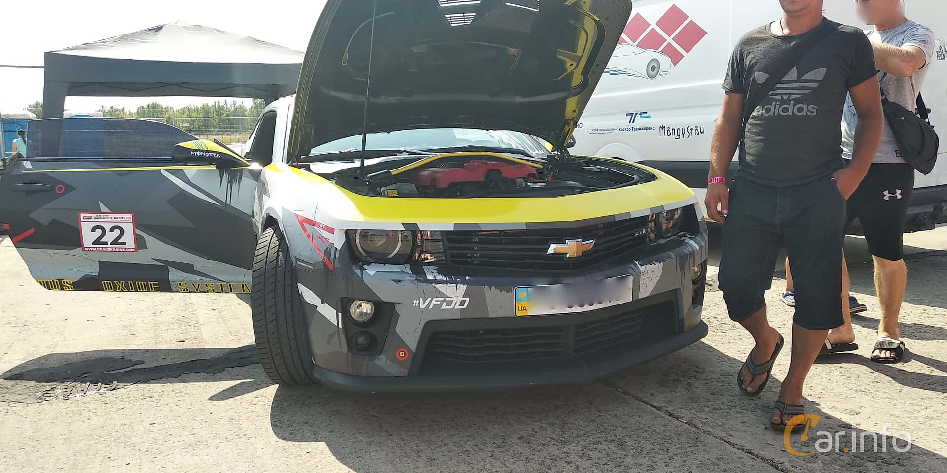 Chevrolet Camaro ZL1 6.2 V8 587hp, 2013 at Proudrs Drag racing Poltava 2019