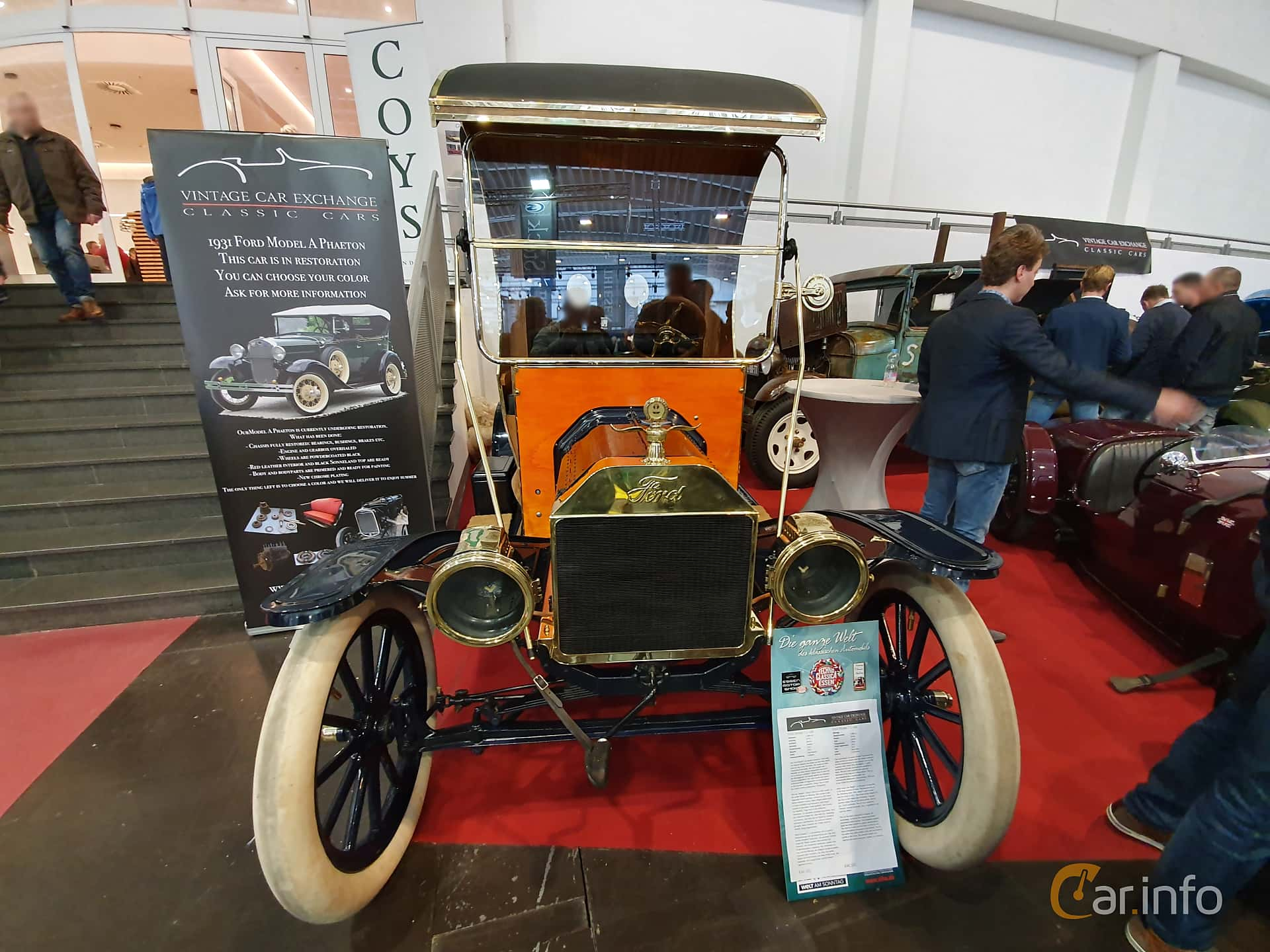 Ford Model T Delivery Van 2.9 Manual, 22hp, 1912 at Techno Classica Essen 2019