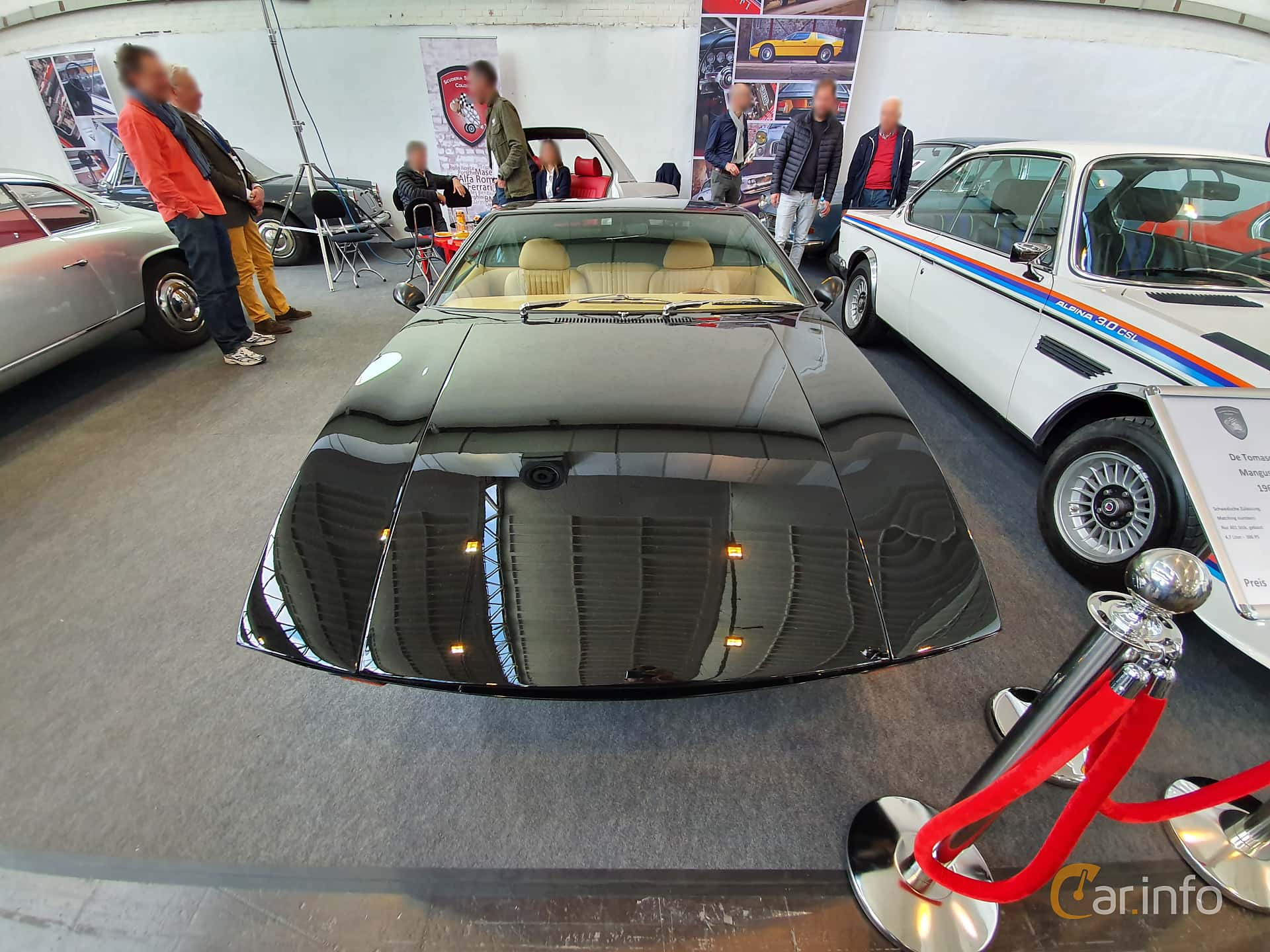 Front  of De Tomaso Mangusta 4.7 V8 Manual, 306ps, 1969 at Techno Classica Essen 2019