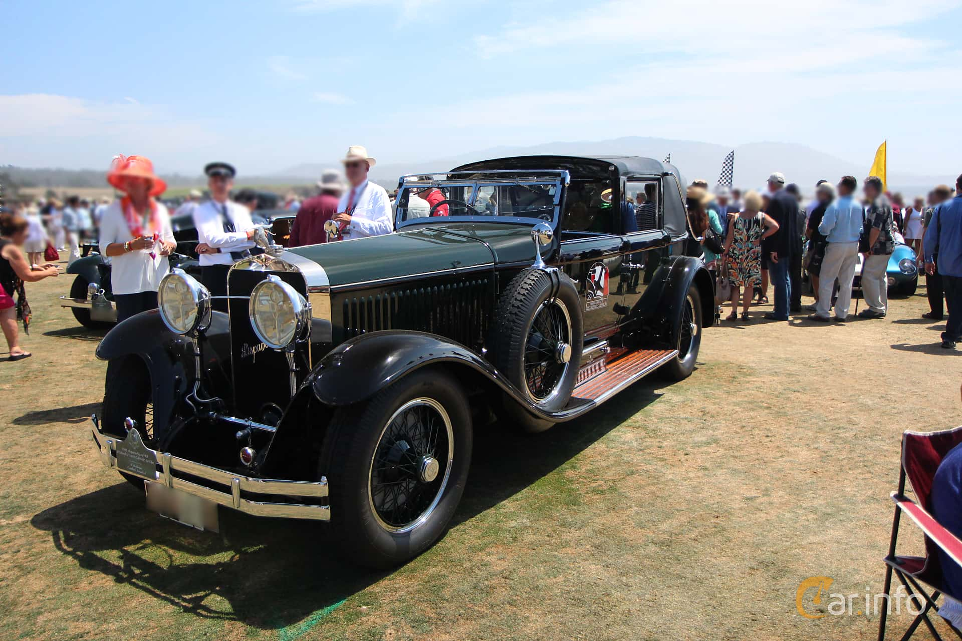 Front/Side  of Hispano-Suiza H6B Cabriolet 6.6 Manual, 135ps, 1929 at Pebble Beach Concours d'Elegance 2015