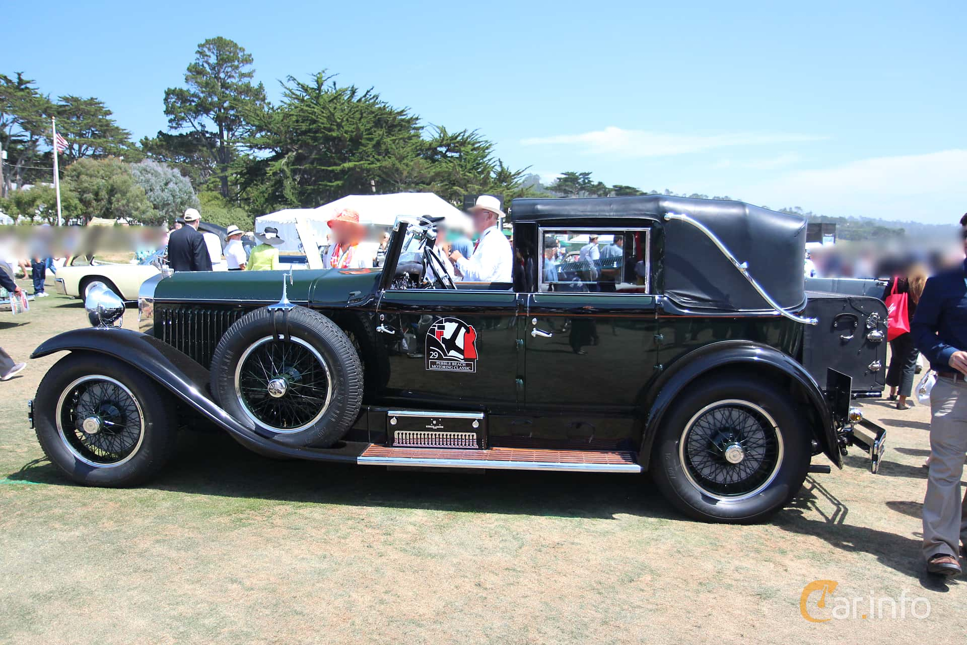 Side  of Hispano-Suiza H6B Cabriolet 6.6 Manual, 135ps, 1929 at Pebble Beach Concours d'Elegance 2015