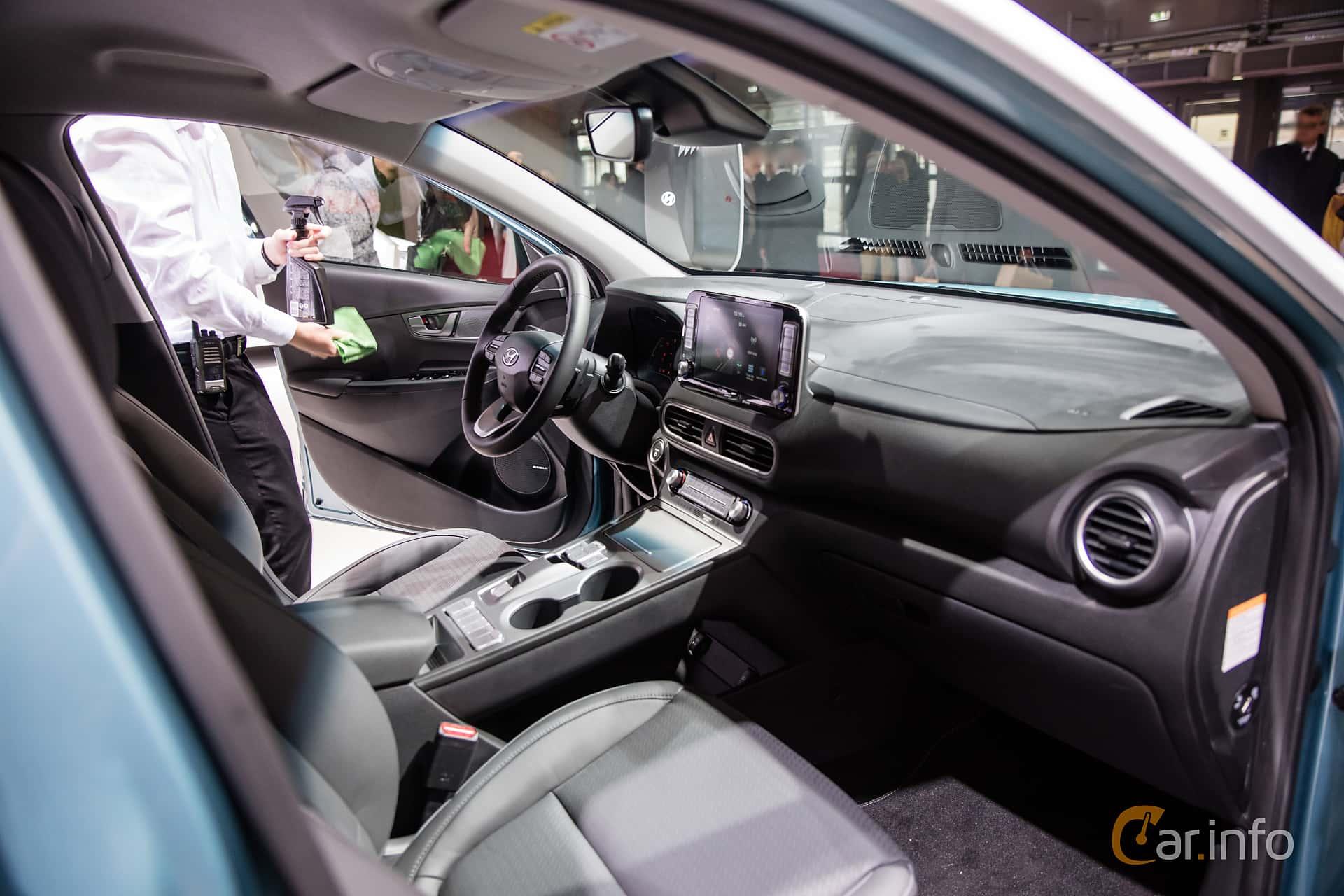 Interior of Hyundai Kona Electric 64 kWh Single Speed, 204ps, 2019 at Paris Motor Show 2018