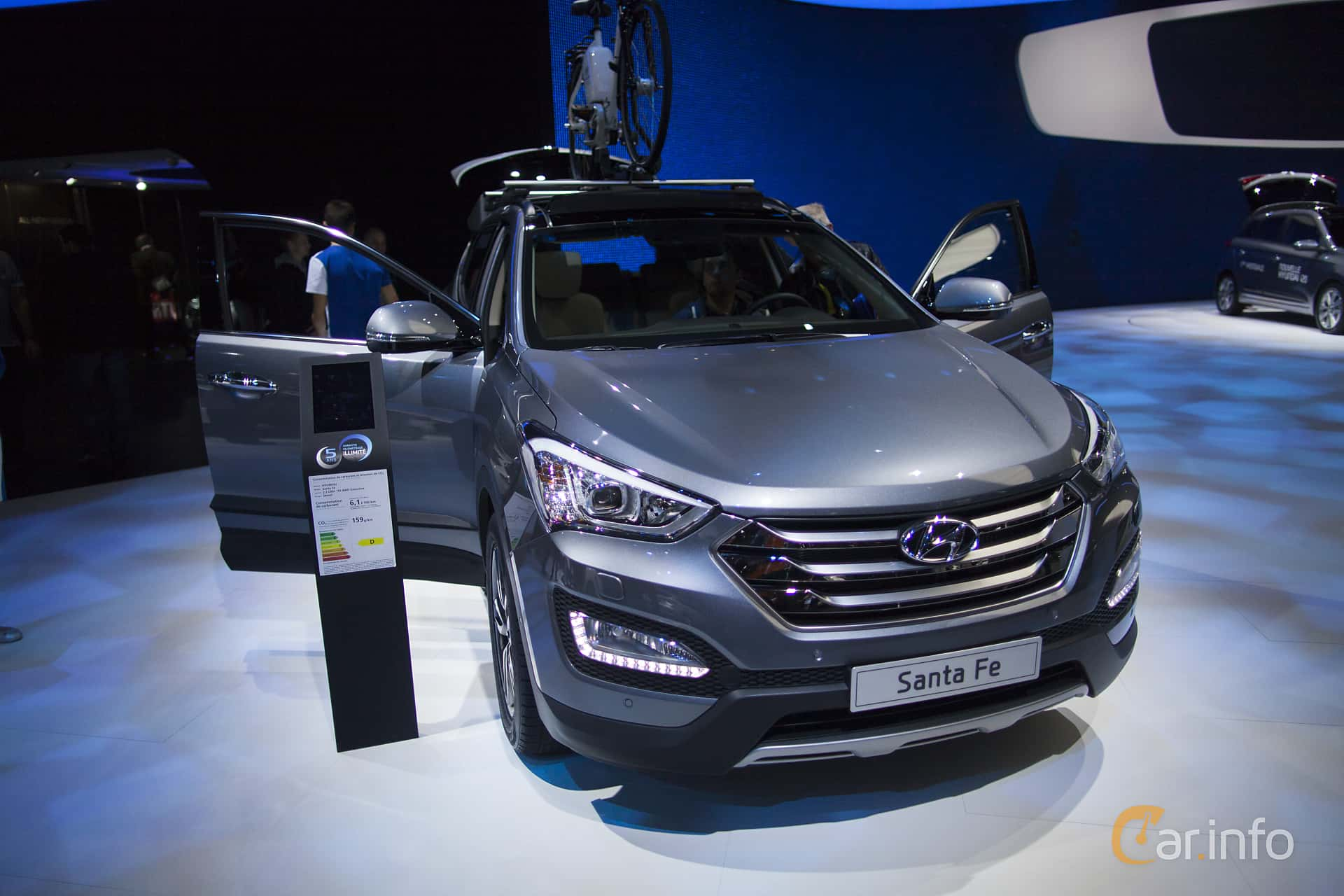 Hyundai Santa Fe 2.2 CRDi 4WD Manual, 200hp, 2015 at Paris Motor Show 2014