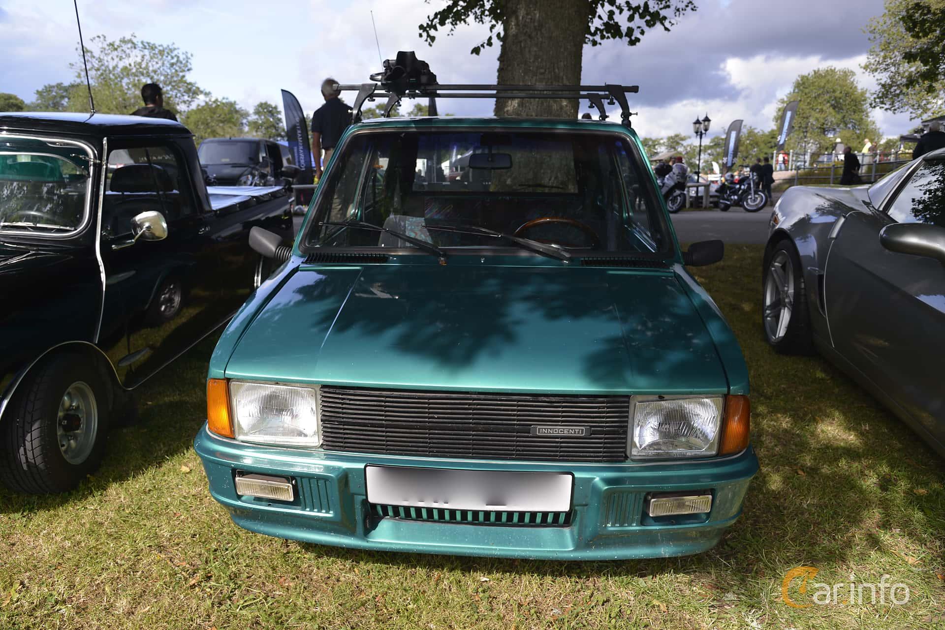 Front  of Innocenti Mini 120L 1.3 Manual, 64ps, 1977 at Sportvagnsträffen 2015