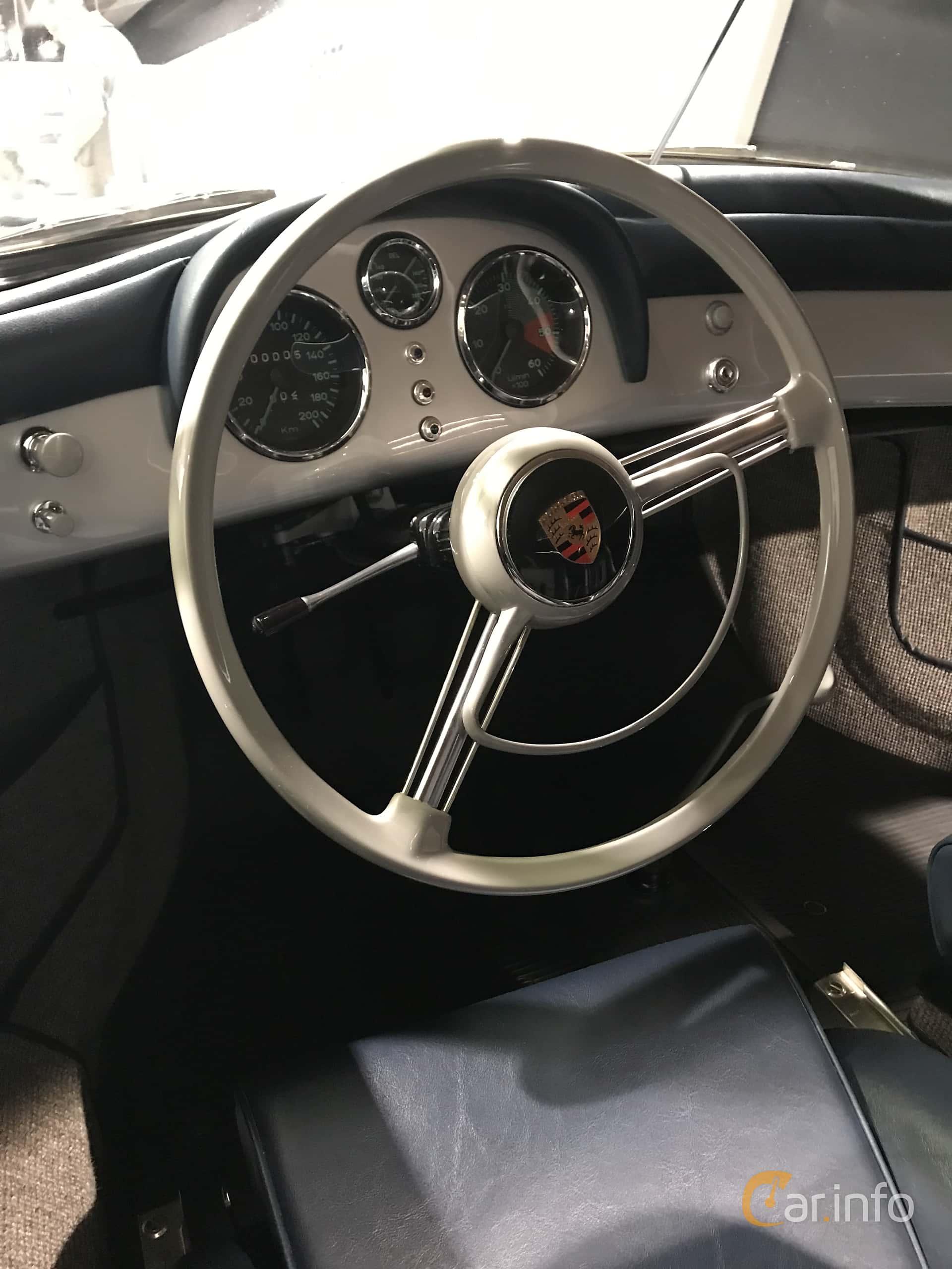 Interior of Porsche 356 1500 Speedster 1.5 Manual, 55ps, 1954