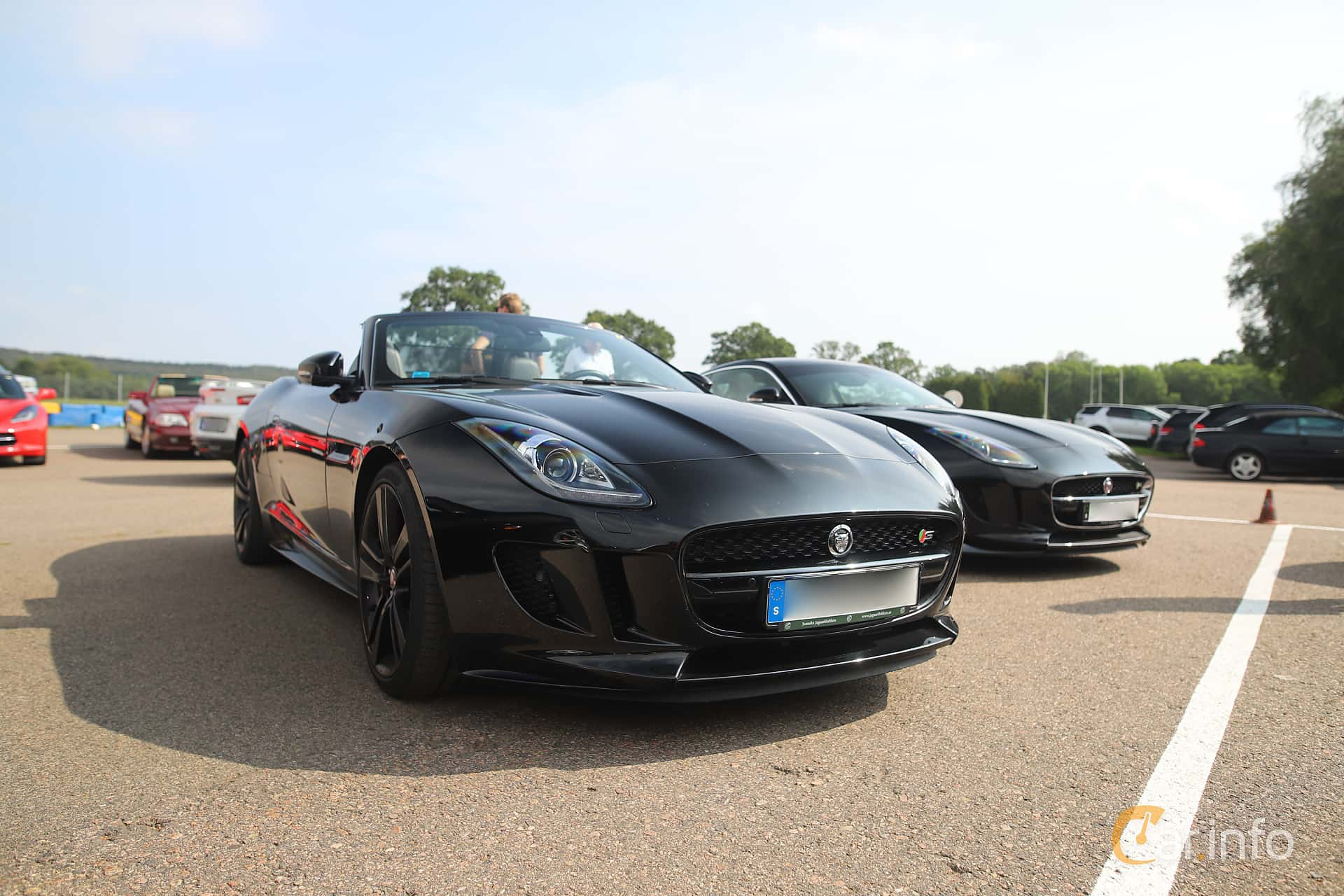 Front/Side  of Jaguar F-Type V8 S Convertible  Automatic, 495ps, 2014 at Autoropa Racing day Knutstorp 2019