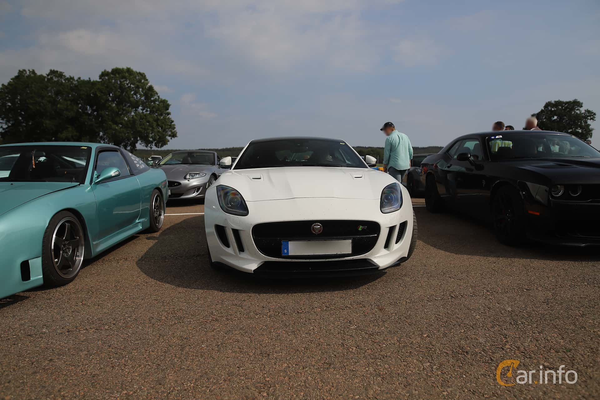 Front  of Jaguar F-Type R AWD  Automatic, 550ps, 2016 at Autoropa Racing day Knutstorp 2019