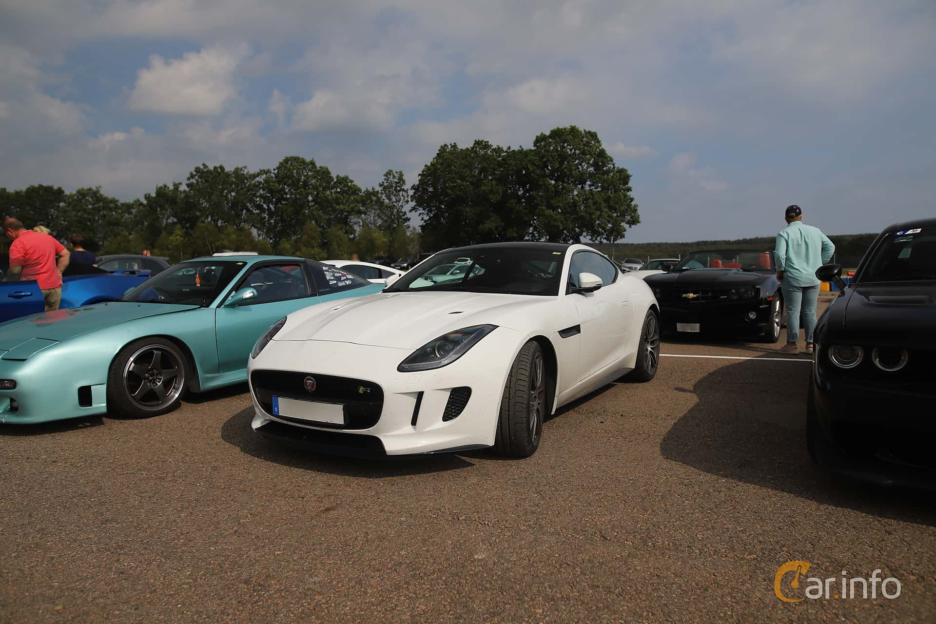 Front/Side  of Jaguar F-Type R AWD  Automatic, 550ps, 2016 at Autoropa Racing day Knutstorp 2019