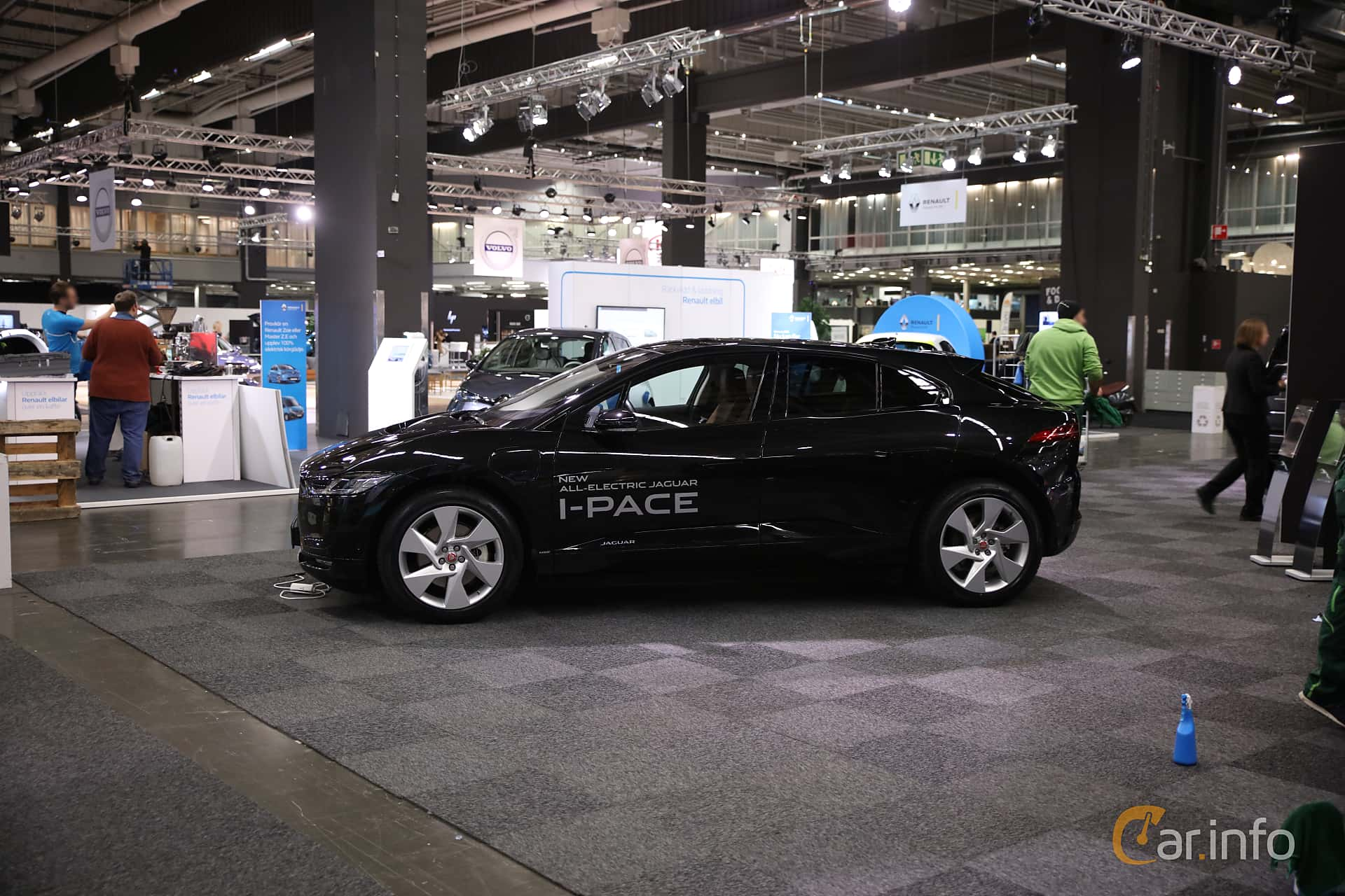 Side  of Jaguar I-Pace EV400 AWD  Single Speed, 400ps, 2019 at eCar Expo Göteborg 2018