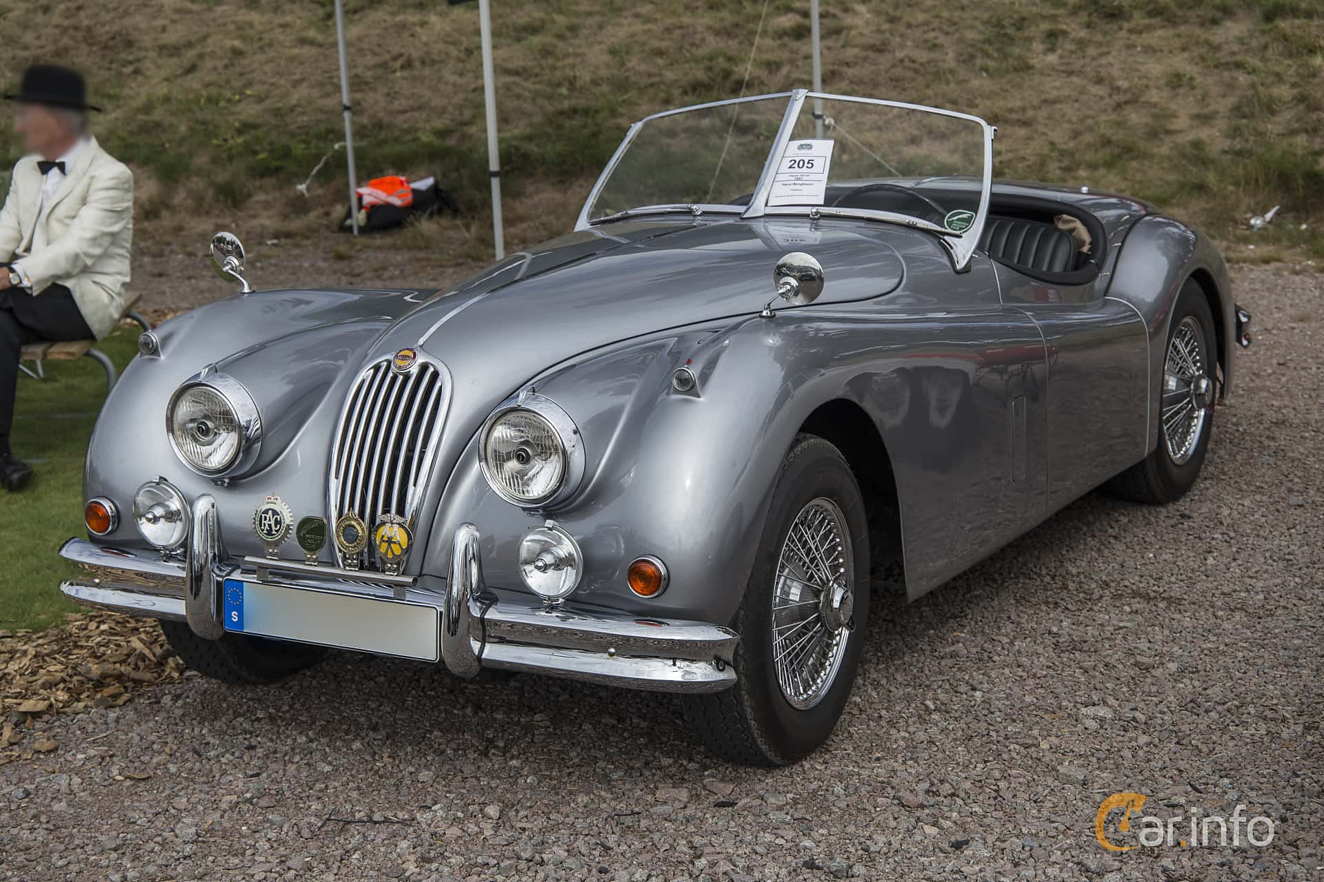 Front/Side Of Jaguar XK140 Roadster 3.4 Manual, 193ps, 1957 At Nostalgia  Racing