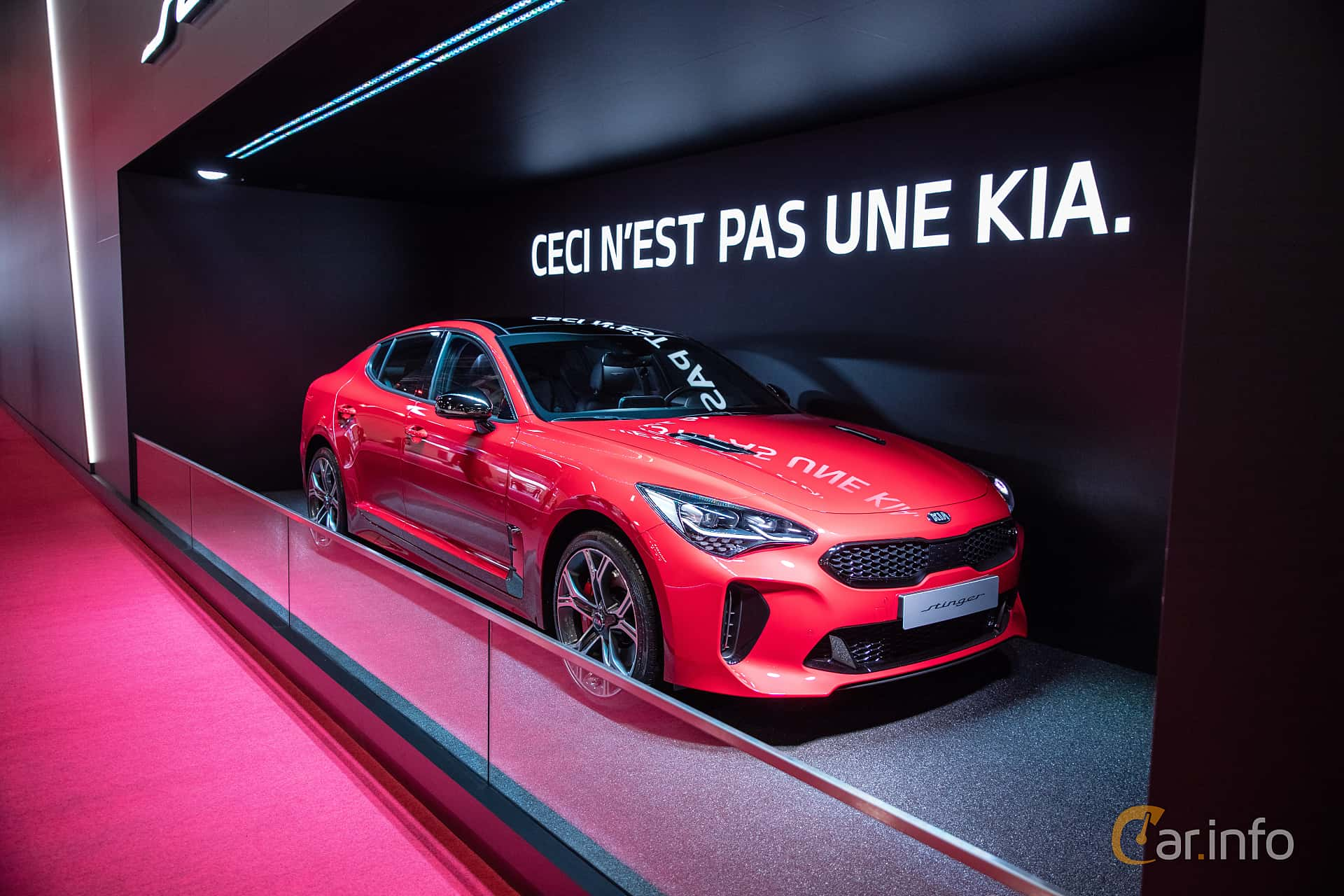 Kia Stinger GT 3.3 V6 T-GDI AWD Automatic, 370hp, 2019 at Paris Motor Show 2018