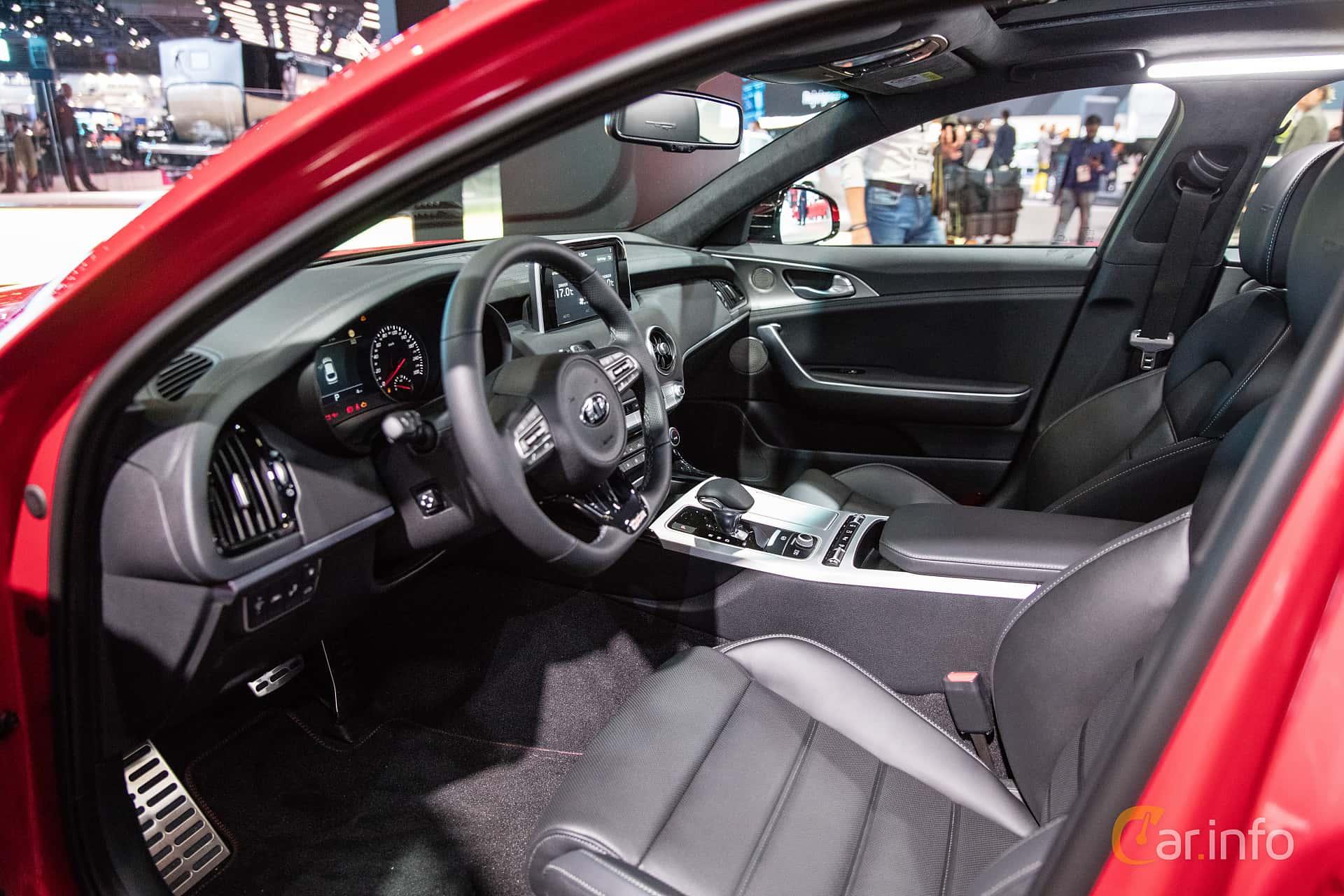 Interior of Kia Stinger GT 3.3 V6 T-GDI AWD Automatic, 370ps, 2019 at Paris Motor Show 2018
