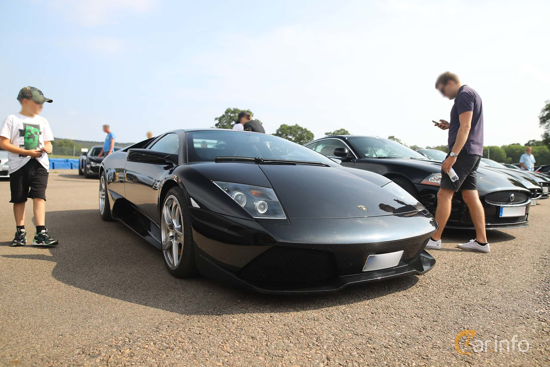 Front/Side  of Lamborghini Murciélago LP 640 6.5 V12 Manual, 640ps, 2007 at Autoropa Racing day Knutstorp 2019