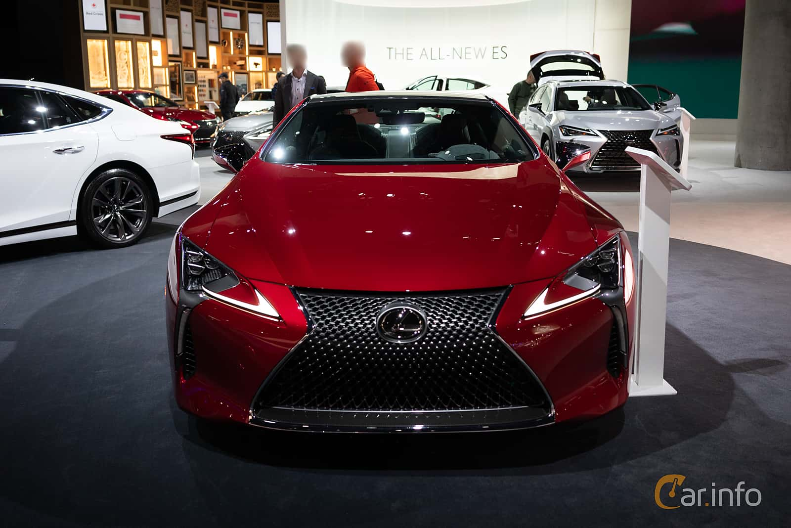 Lexus LC 500 5.0 V8 Automatic, 477hp, 2019 at LA Motor Show 2018