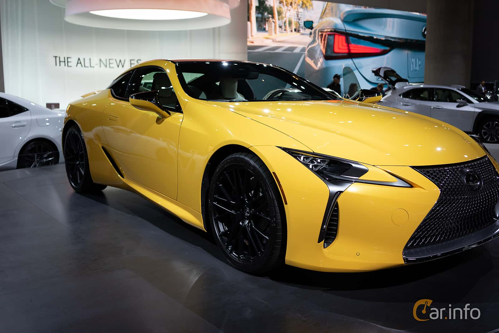 Front/Side  of Lexus LC 500 5.0 V8 Automatic, 477ps, 2019 at LA Motor Show 2018