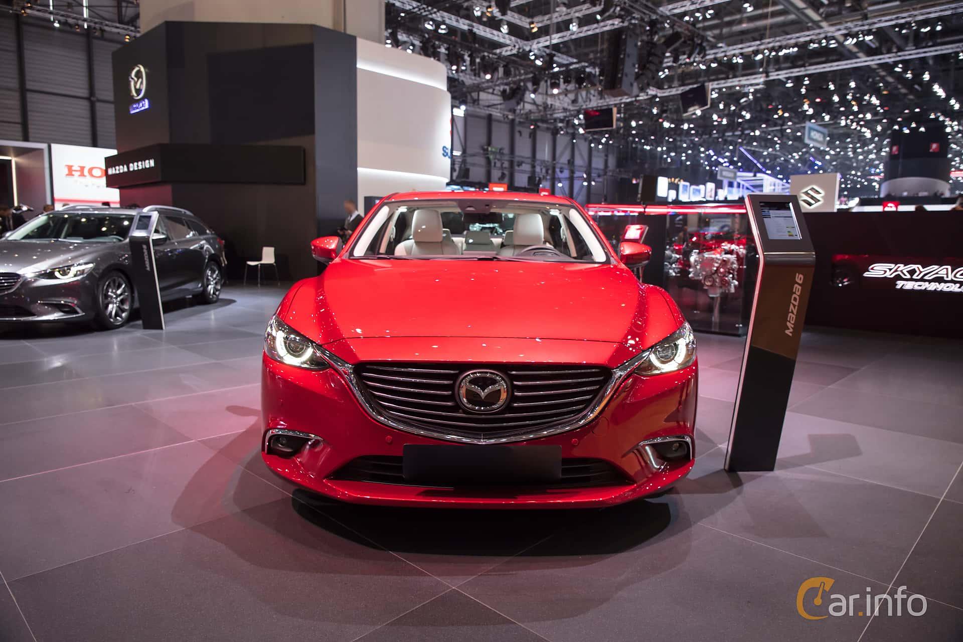 Front  of Mazda 6 Sedan 2.5 SKYACTIV-G Automatic, 192ps, 2017 at Geneva Motor Show 2017