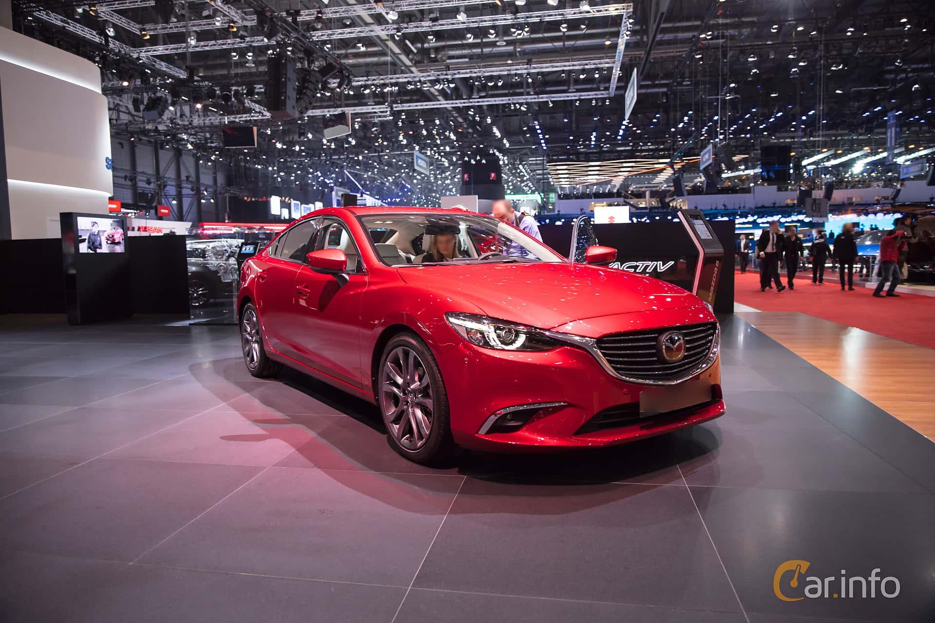 Front/Side  of Mazda 6 Sedan 2.5 SKYACTIV-G Automatic, 192ps, 2017 at Geneva Motor Show 2017