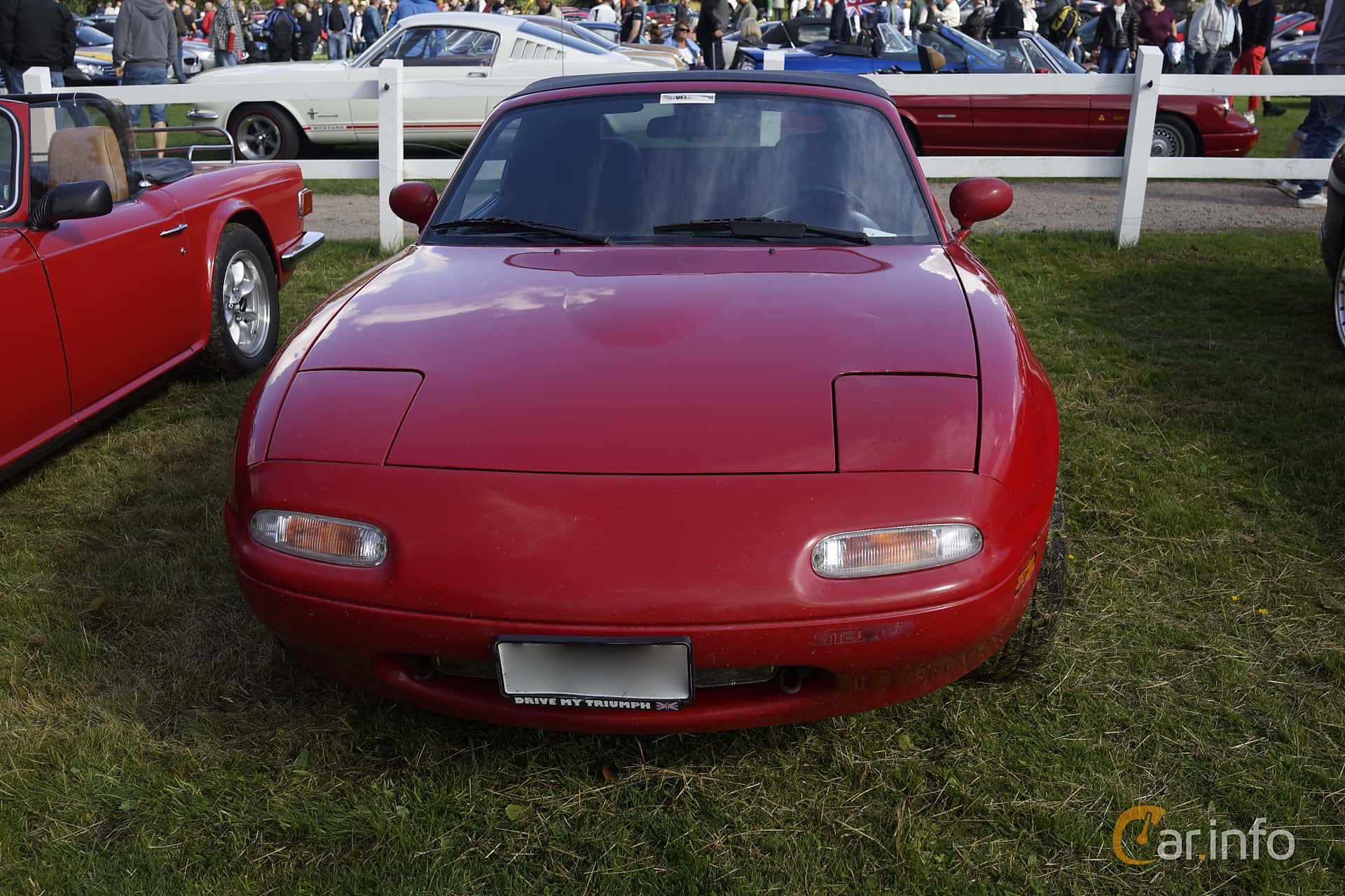 Front of Mazda MX-5 1.6 Manual, 115ps, 1990 at Sportvagnsträffen 2015