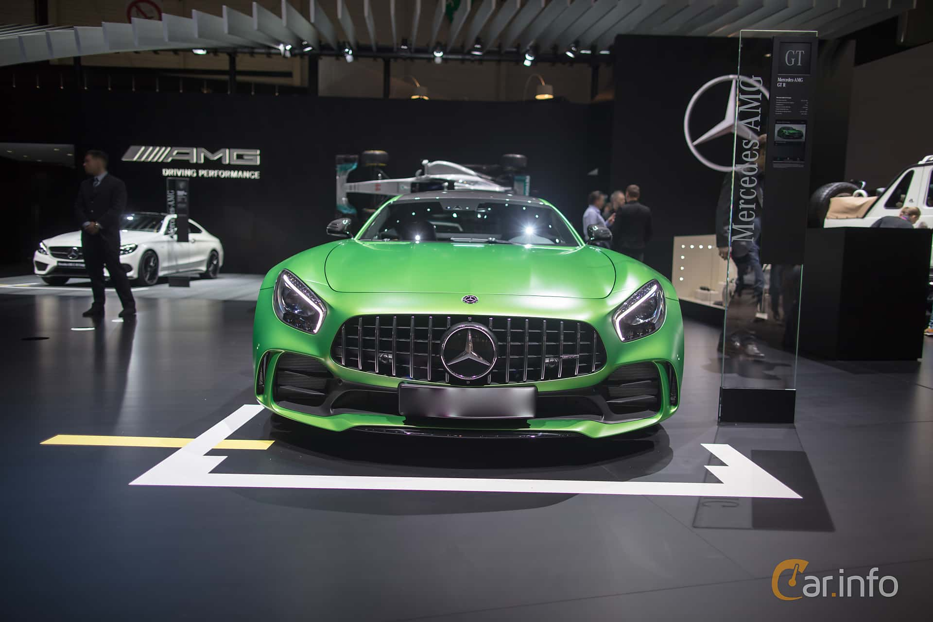 Front  of Mercedes-Benz AMG GT R  AMG Speedshift DCT, 585ps, 2017 at Geneva Motor Show 2017
