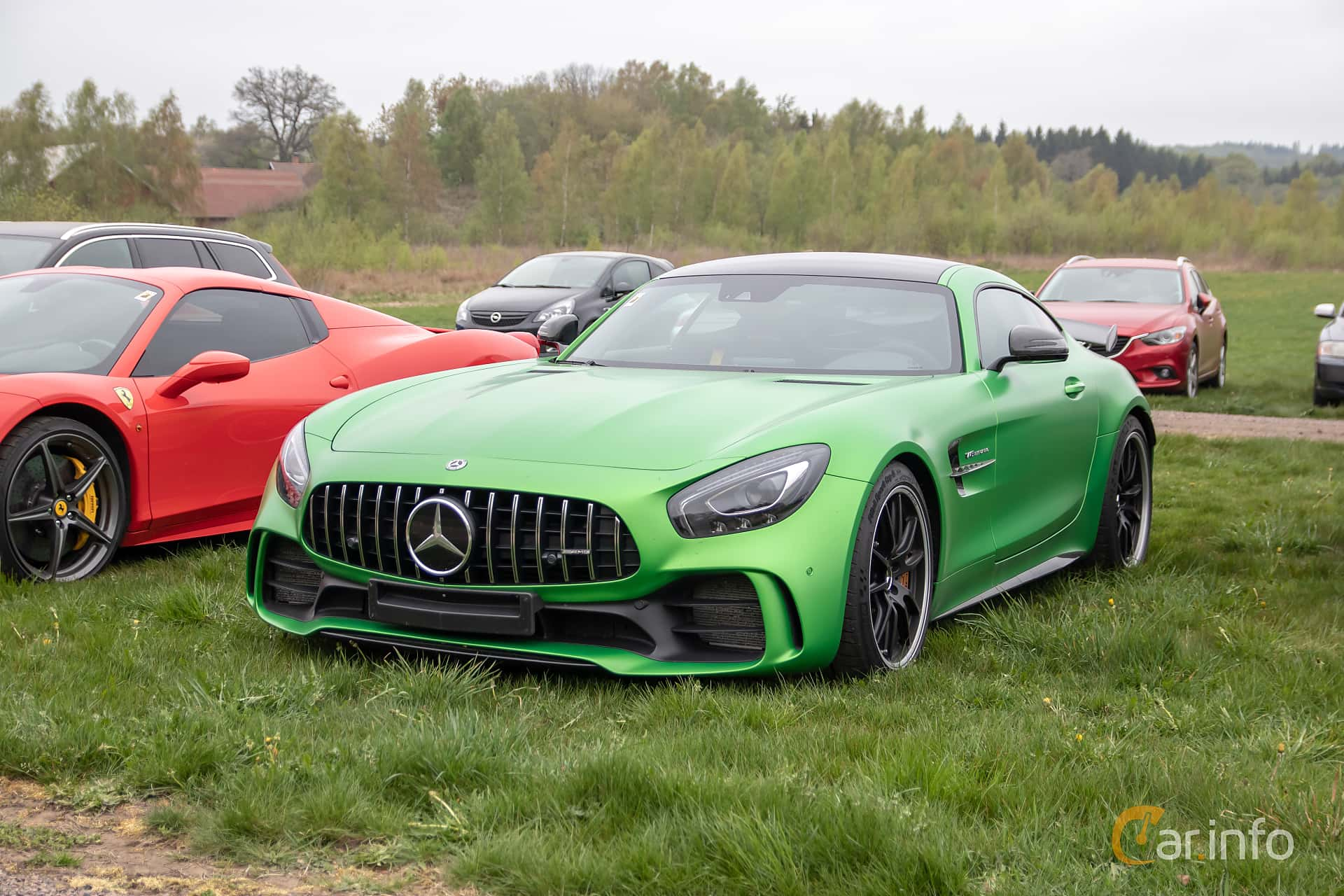 Front/Side  of Mercedes-Benz AMG GT R  AMG Speedshift DCT, 585ps, 2017 at Lucys motorfest 2019