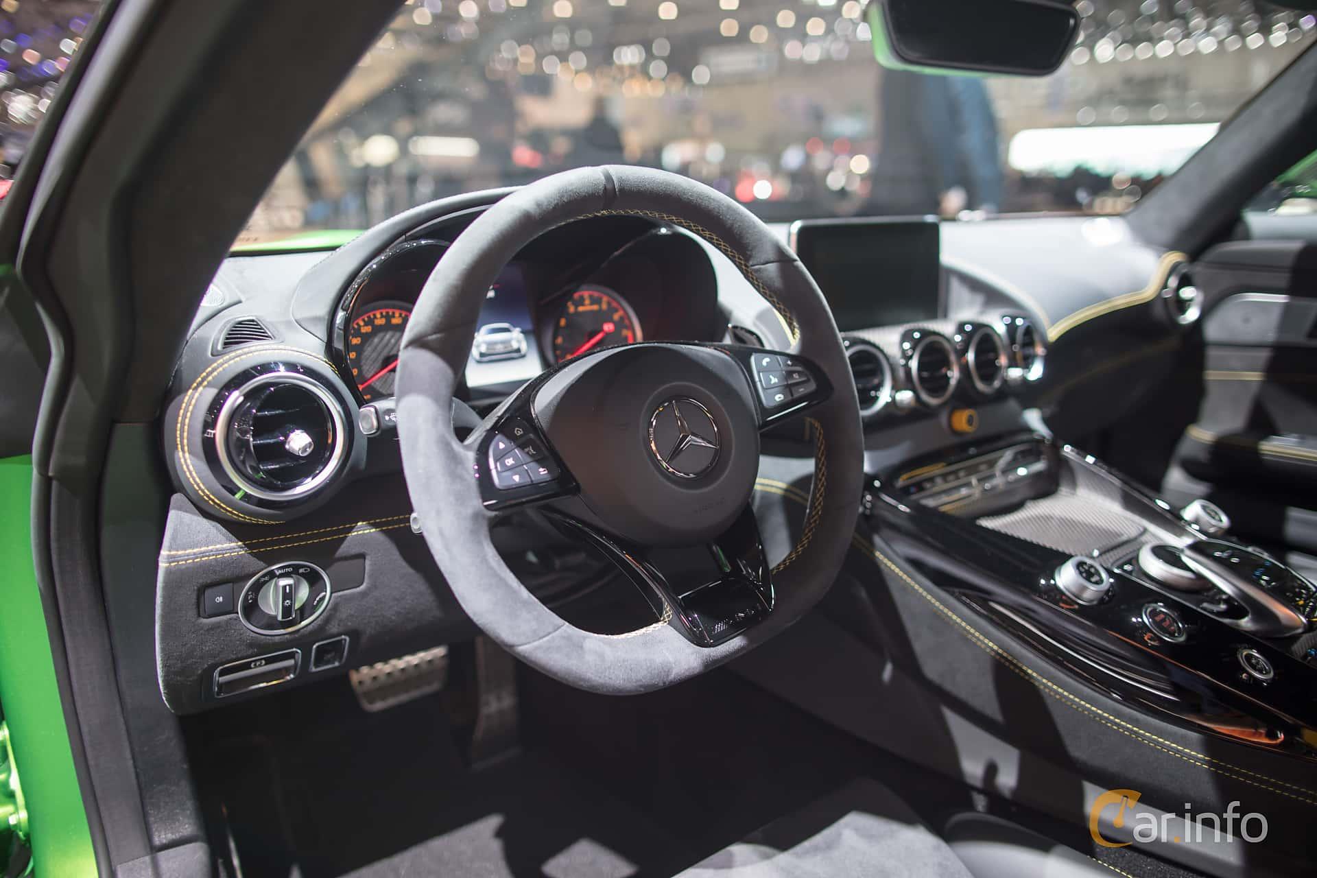 Interior of Mercedes-Benz AMG GT R  AMG Speedshift DCT, 585ps, 2017 at Geneva Motor Show 2017