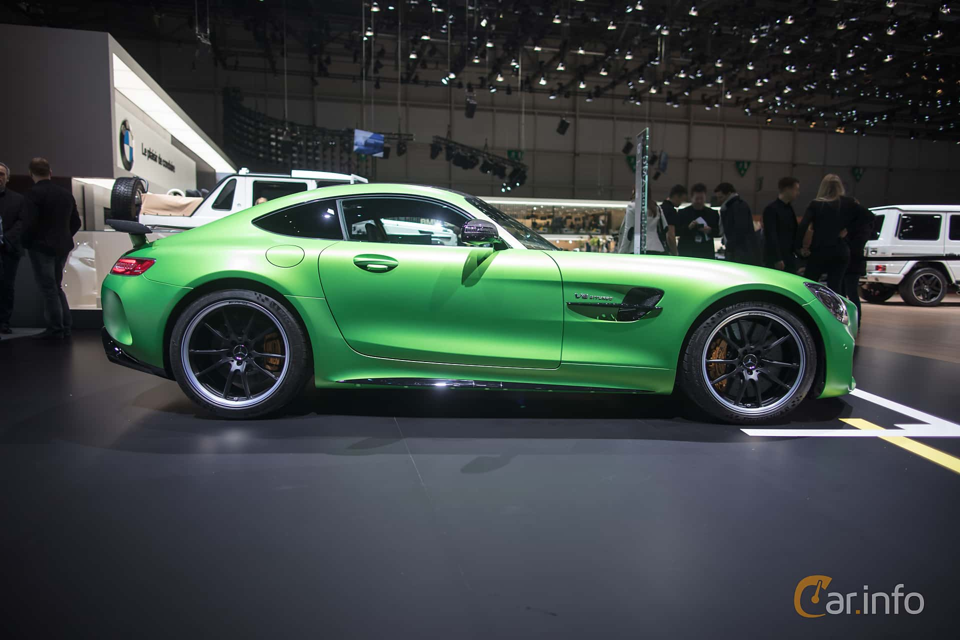 Side  of Mercedes-Benz AMG GT R  AMG Speedshift DCT, 585ps, 2017 at Geneva Motor Show 2017