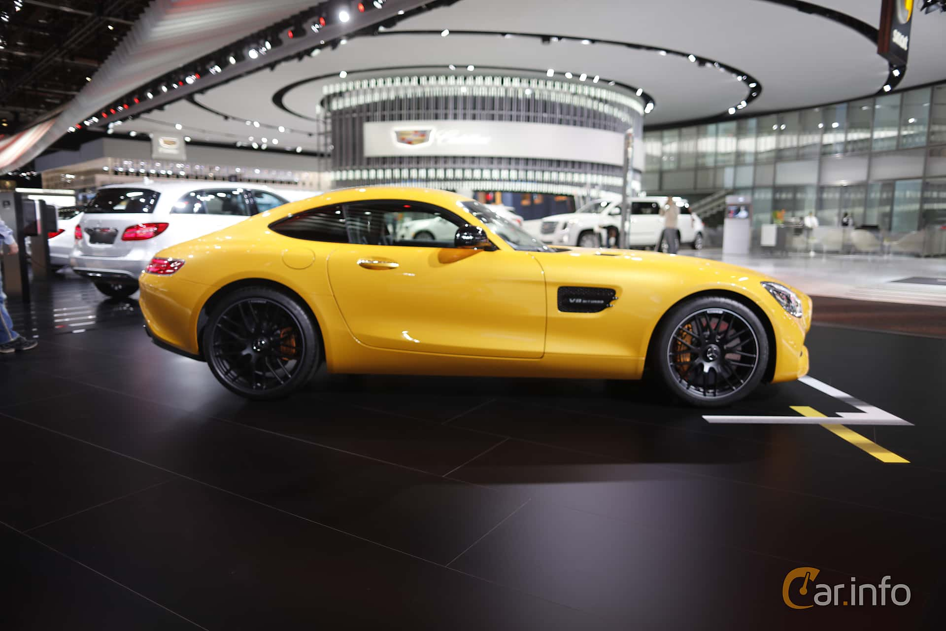 Sida av Mercedes-Benz AMG GT S 4.0 V8 AMG Speedshift DCT, 510ps, 2017 på North American International Auto Show 2017