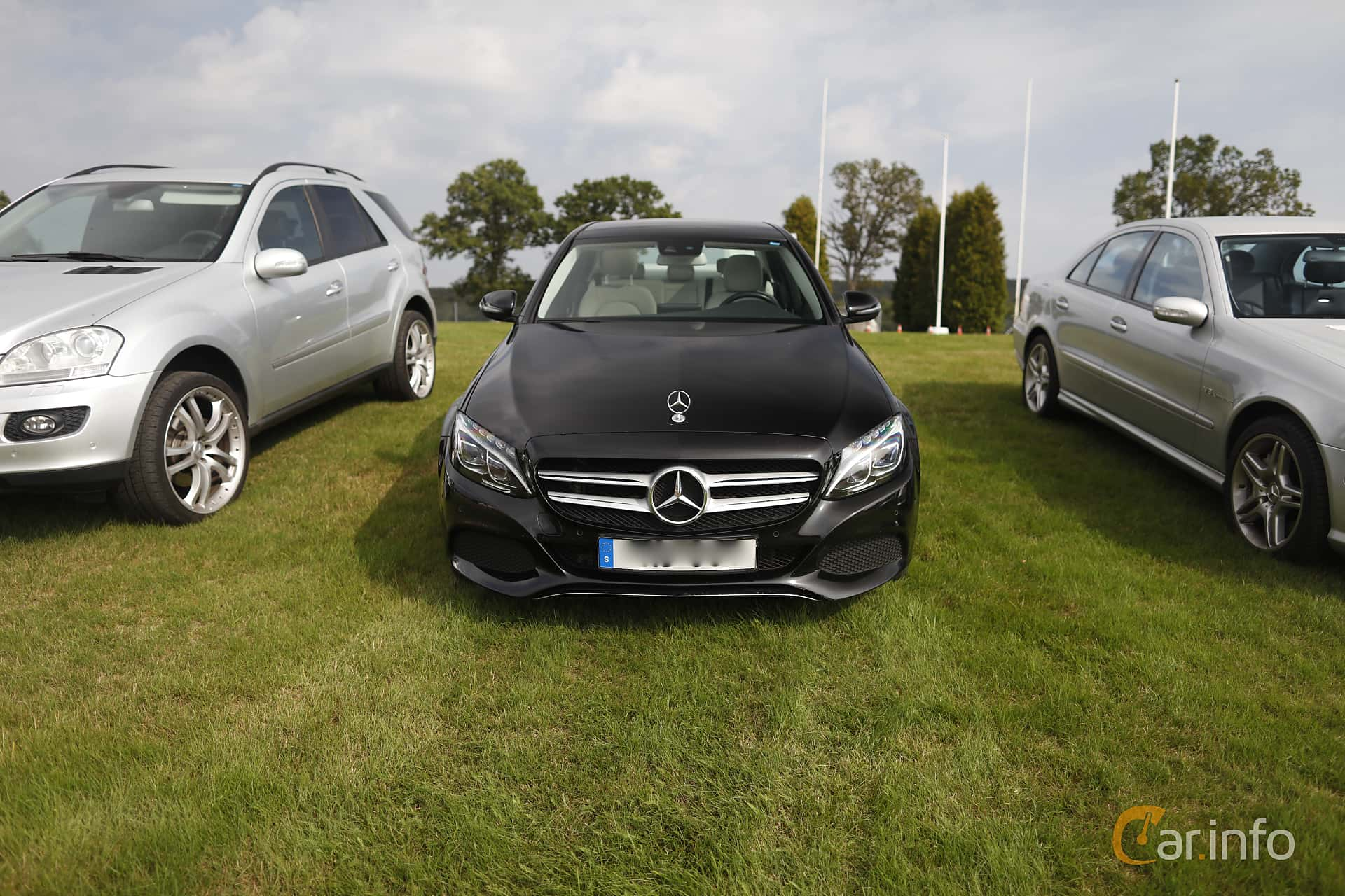 Front  of Mercedes-Benz C 350 e  7G-Tronic Plus, 279ps, 2017 at Autoropa Racing day Knutstorp 2019