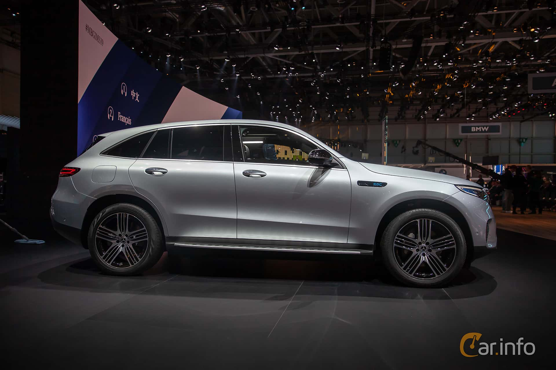 Sida av Mercedes-Benz EQC 400  Single Speed, 408ps, 2019 på Geneva Motor Show 2019