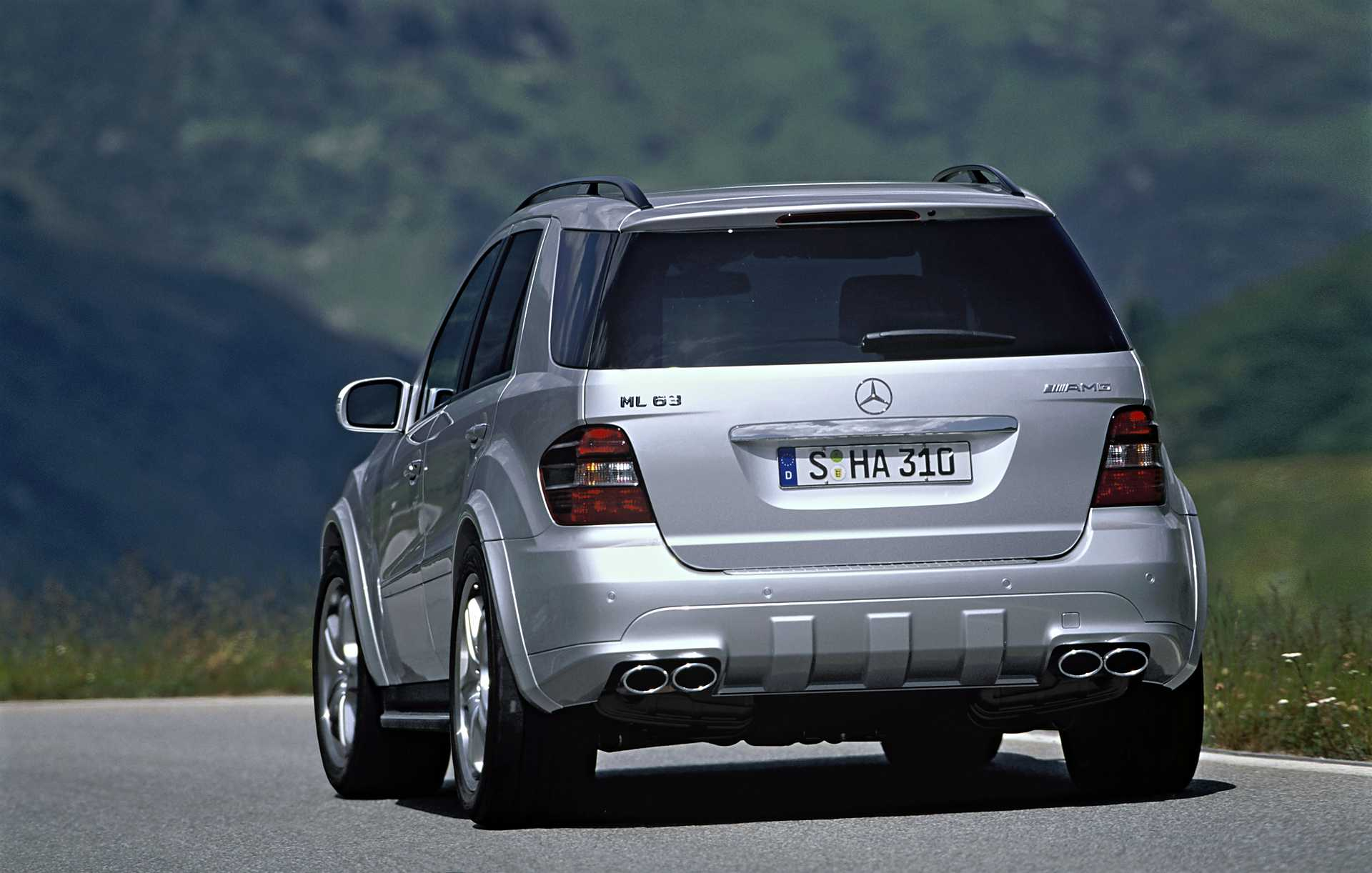 Back Side of Mercedes Benz ML 63 AMG 4MATIC AMG SpeedShift