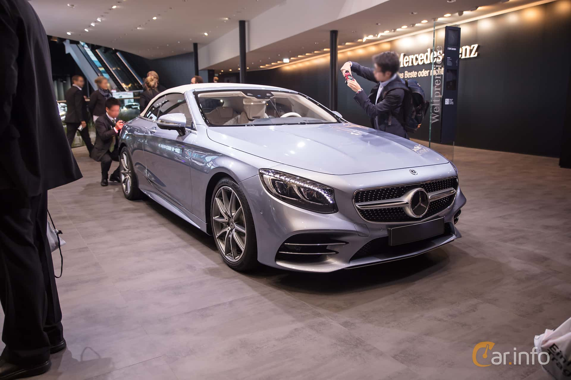 Front/Side  of Mercedes-Benz S 560 Cabriolet  9G-Tronic, 469ps, 2018 at IAA 2017
