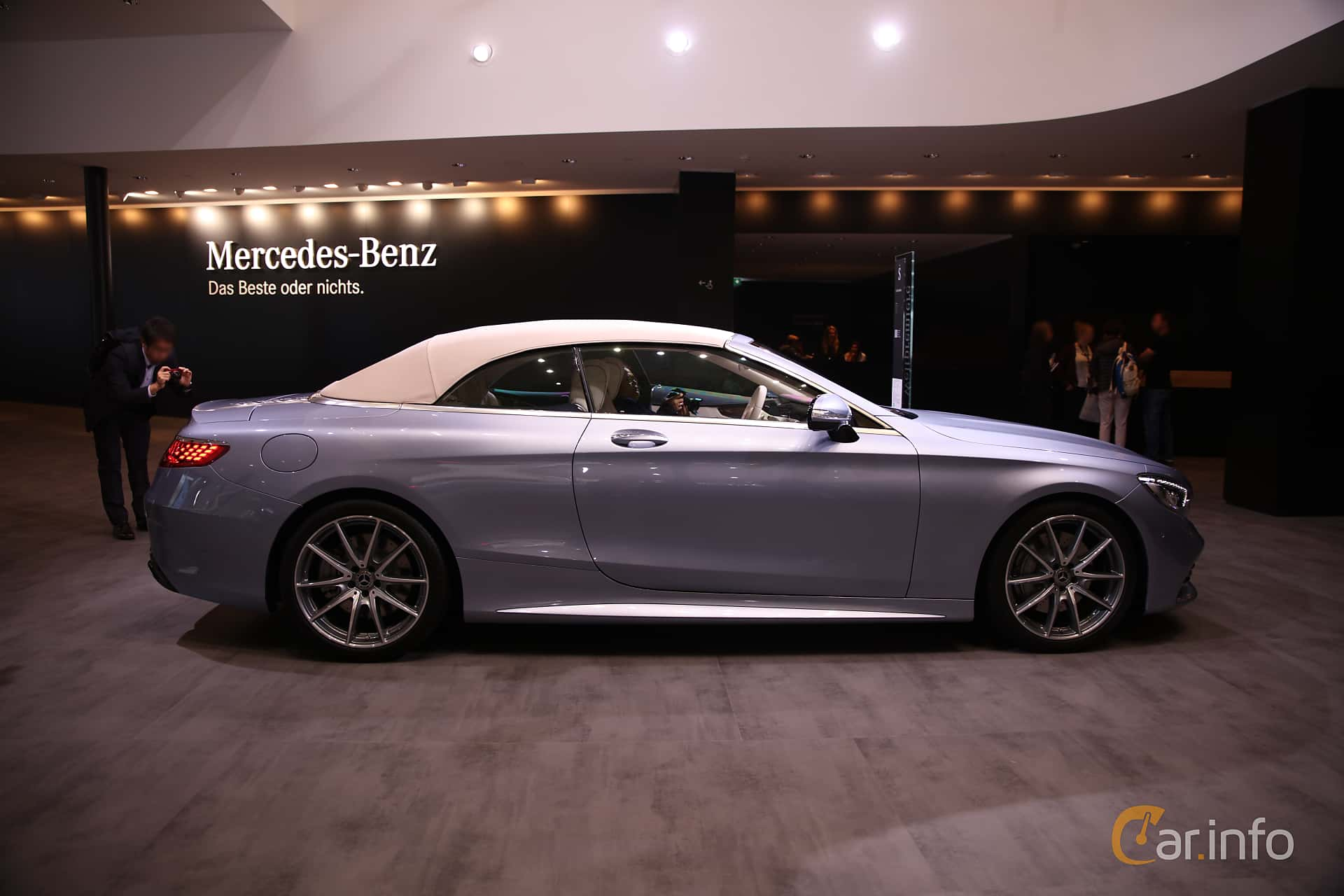 Side  of Mercedes-Benz S 560 Cabriolet  9G-Tronic, 469ps, 2018 at IAA 2017