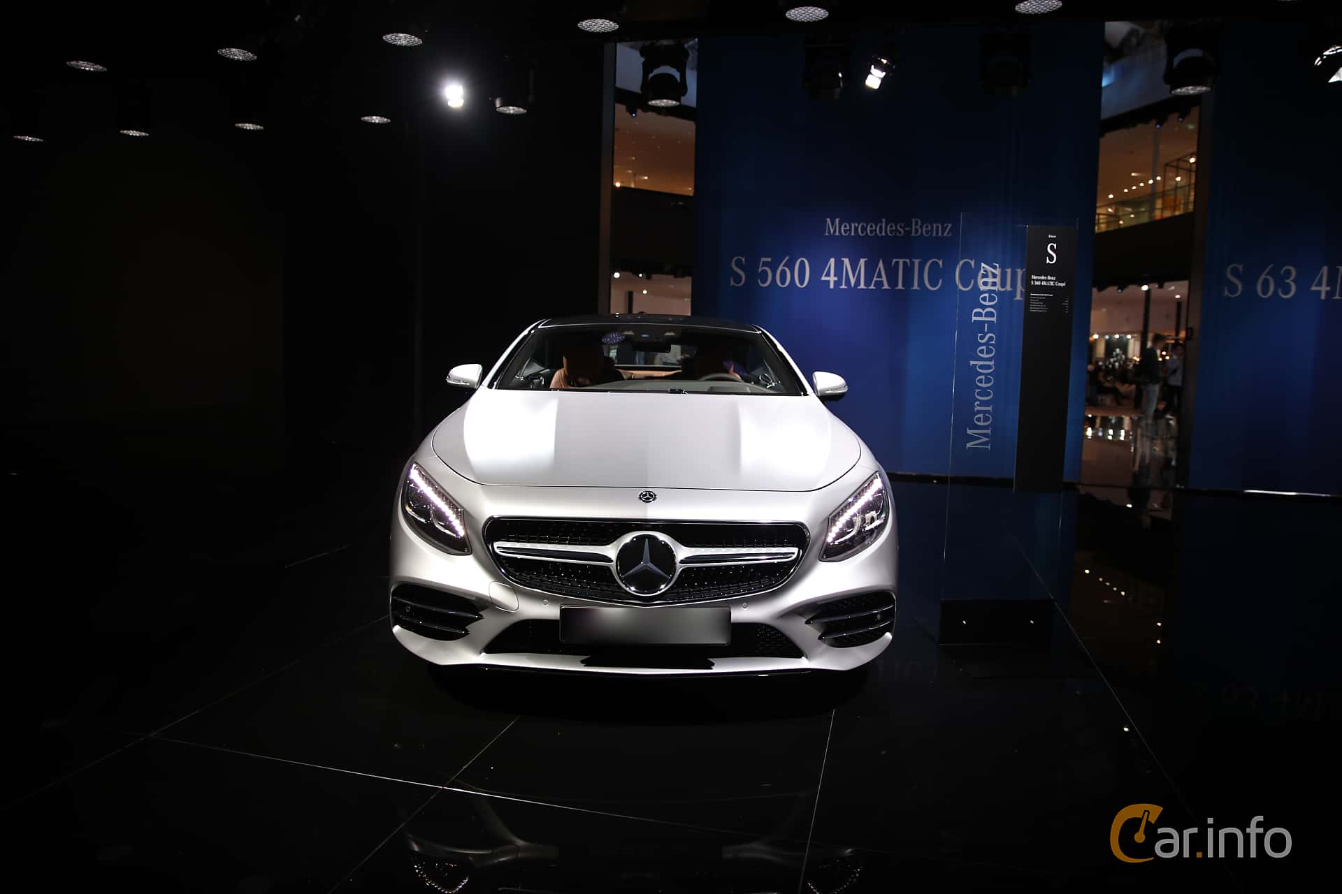 Front  of Mercedes-Benz S 560 4MATIC Coupé  9G-Tronic, 469ps, 2018 at IAA 2017