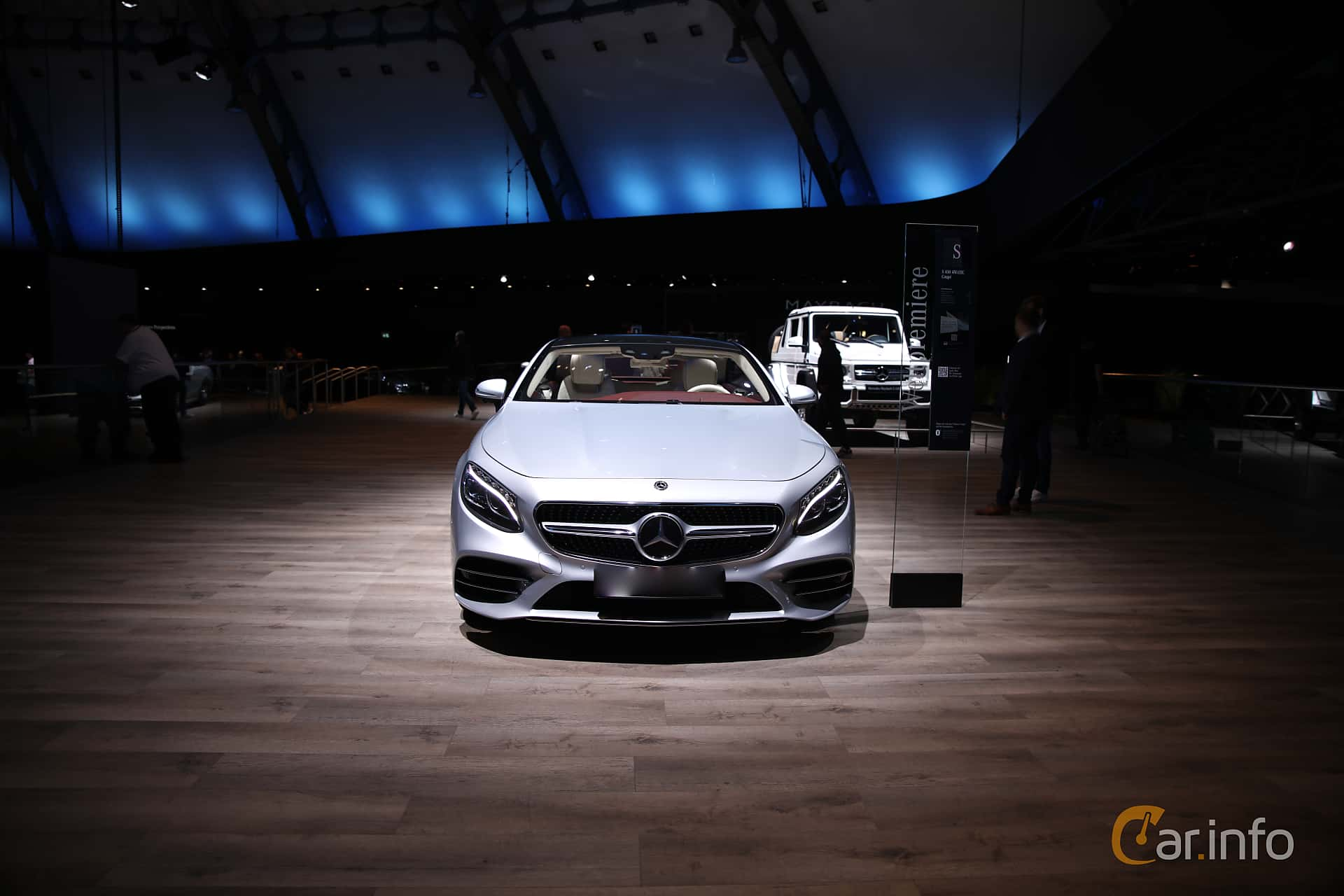 Front  of Mercedes-Benz S 450 4MATIC Coupé  9G-Tronic, 367ps, 2018 at IAA 2017
