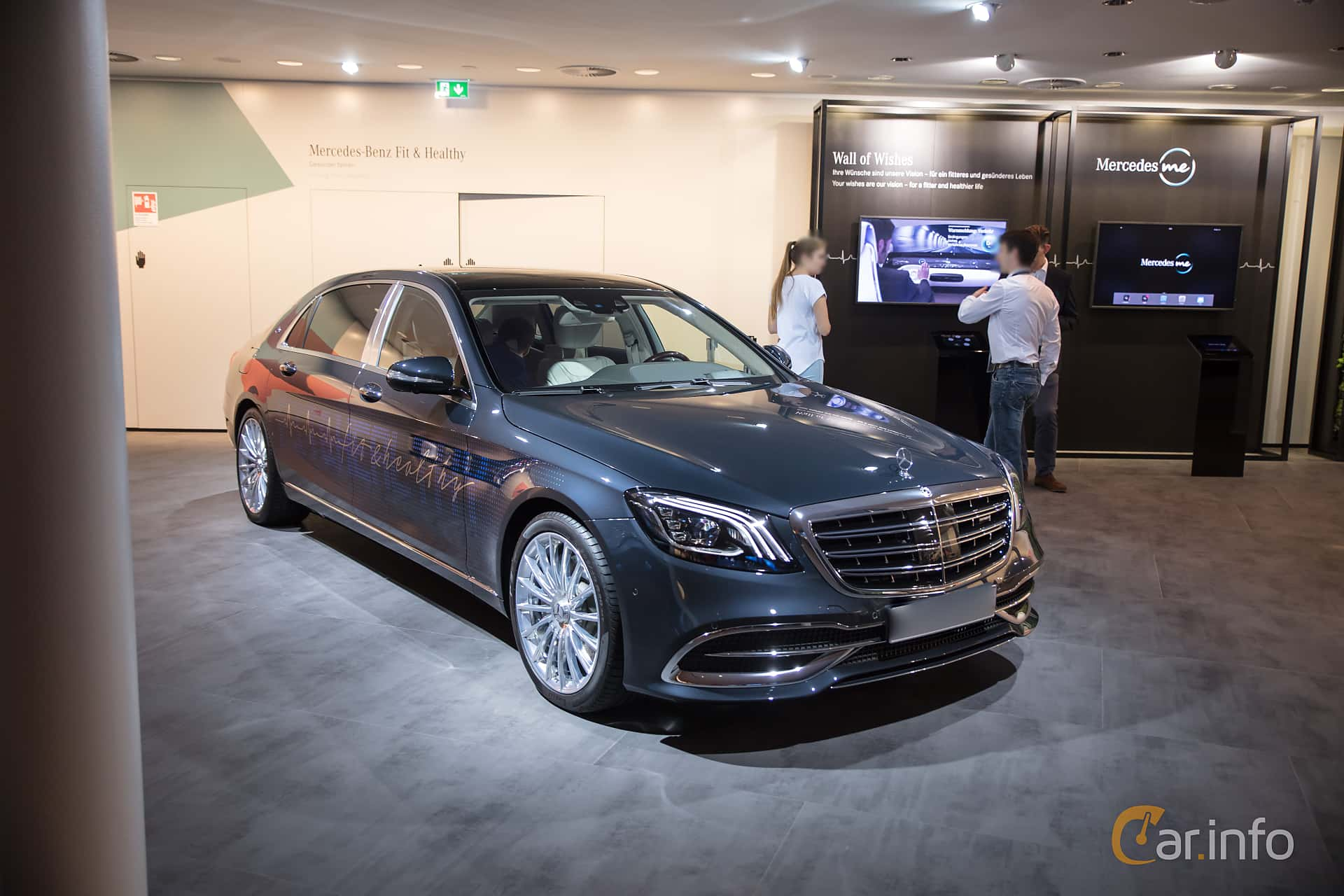 Front/Side  of Mercedes-Benz S-Class Maybach 2018 at IAA 2017