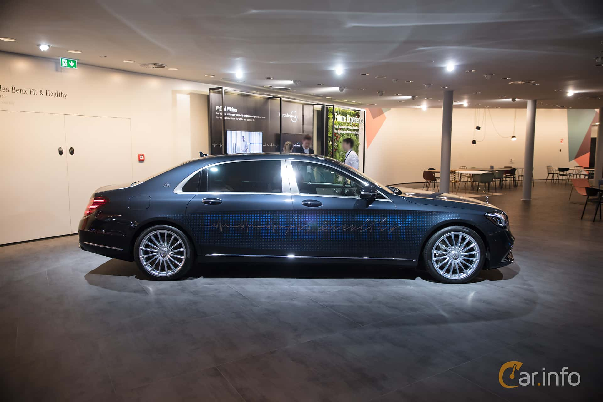 Side  of Mercedes-Benz S-Class Maybach 2018 at IAA 2017
